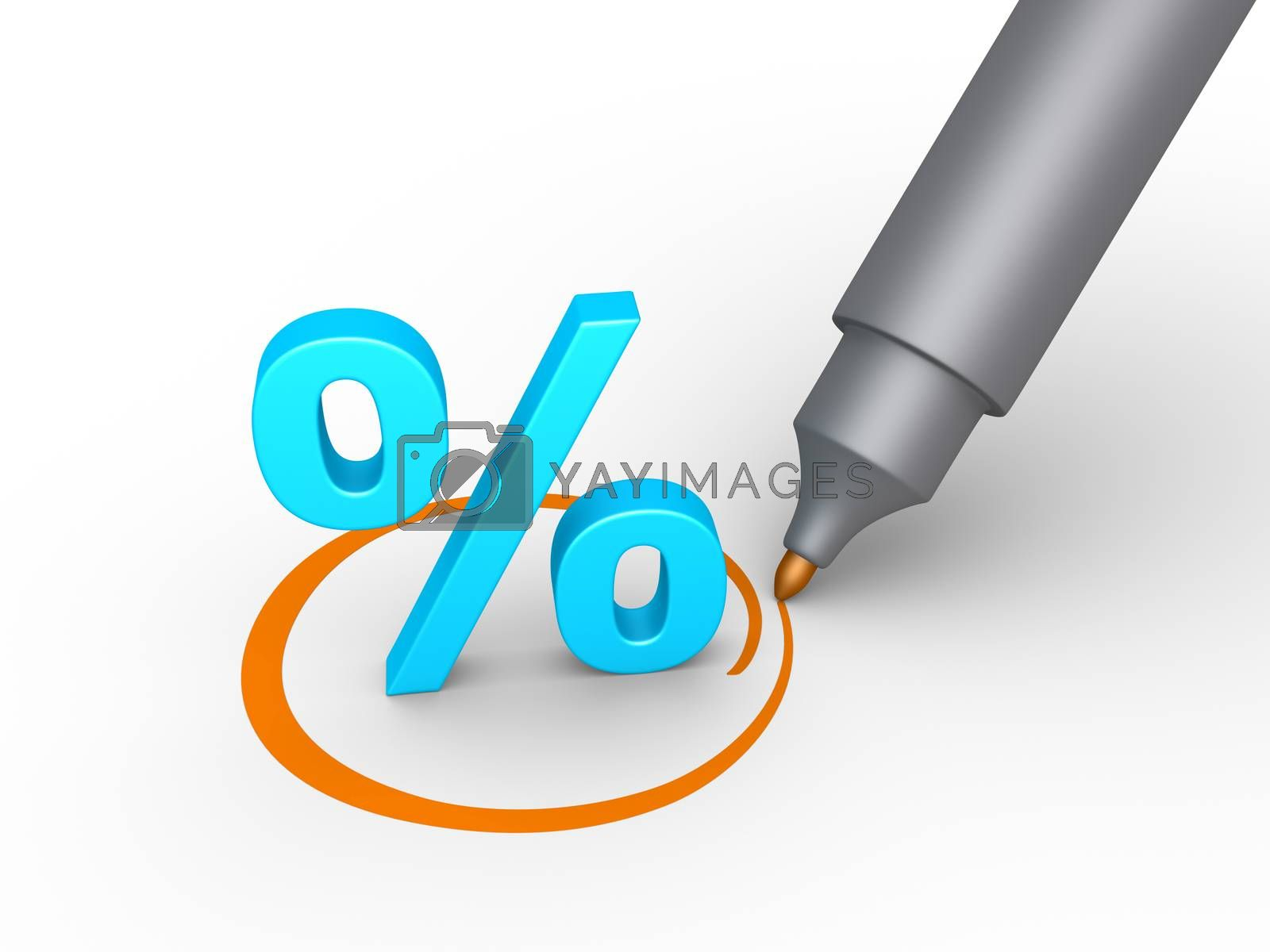 Percent symbol is selected by 6kor3dos