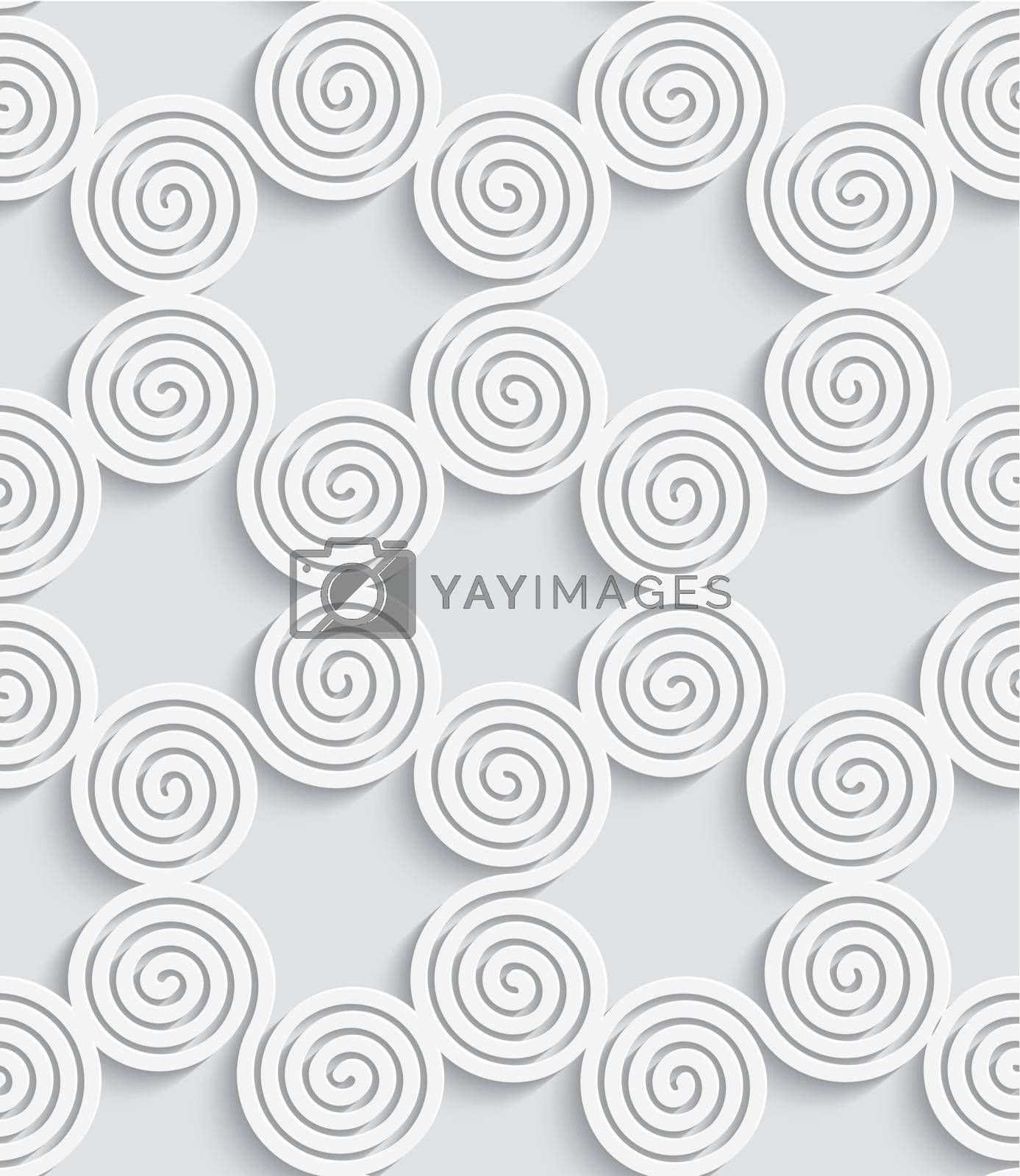 Spiral cut out white seamless background by Zebra-Finch