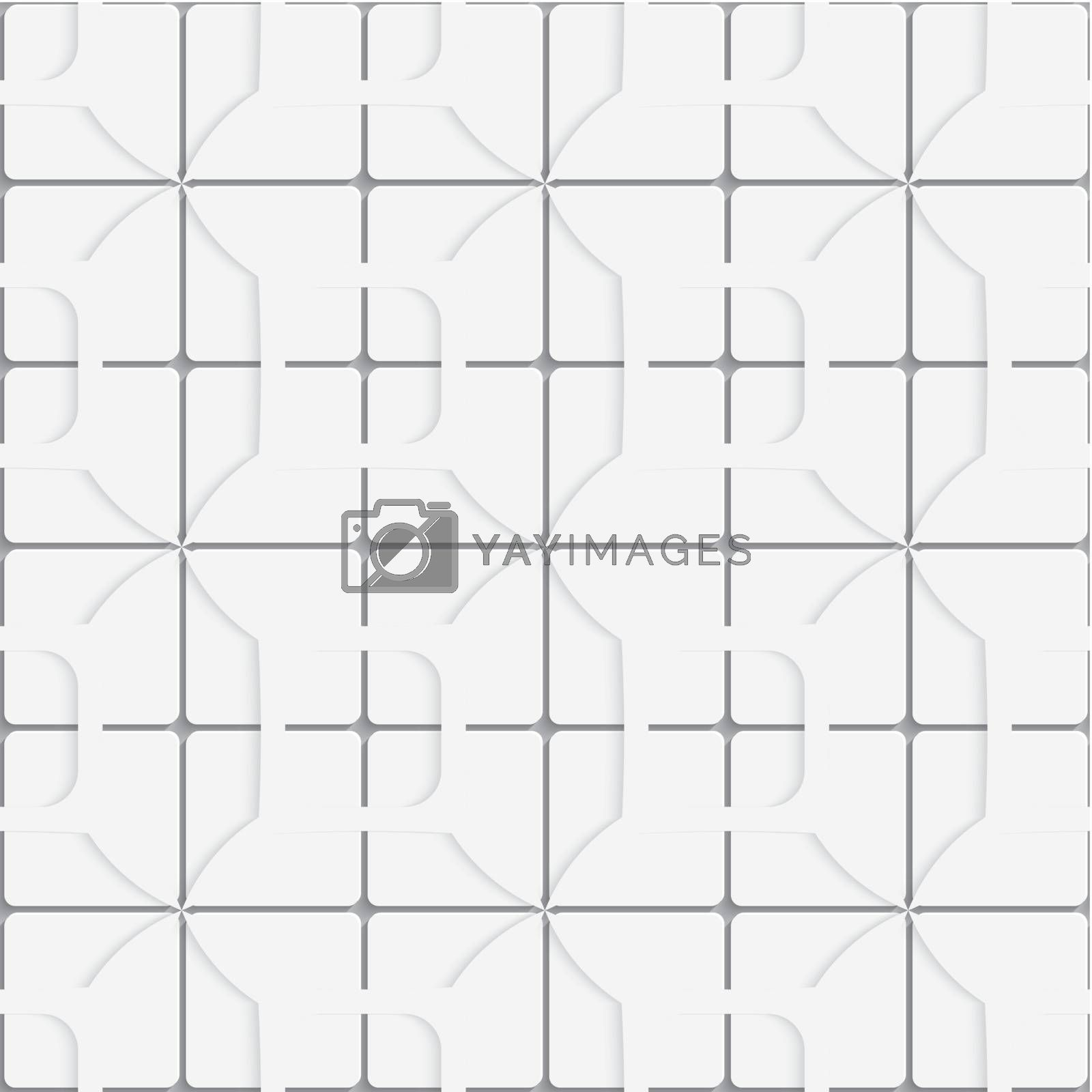Seamless white layered tiles background by Zebra-Finch