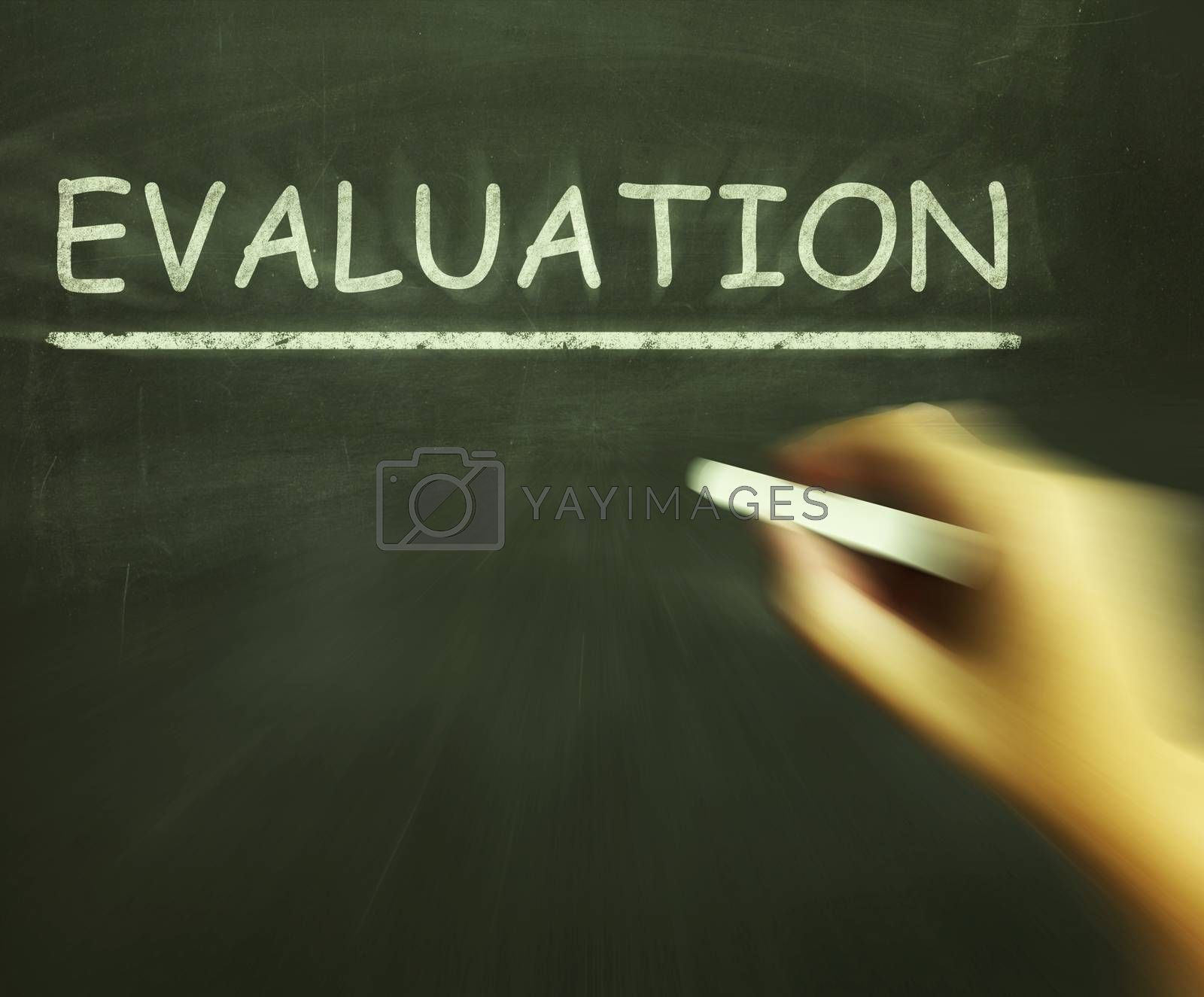Evaluation Chalk Means Judgement Interpretation And Opinion by stuartmiles