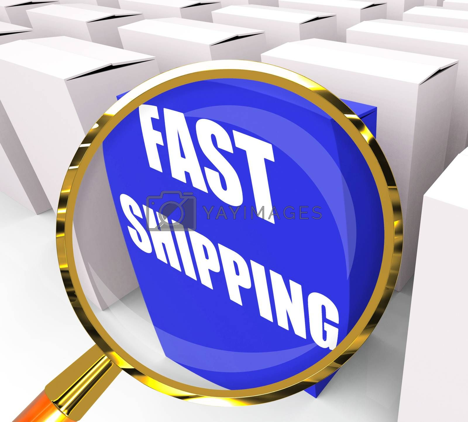 Fast Shipping Packet Shows Quick Deliveries and Transportation by stuartmiles