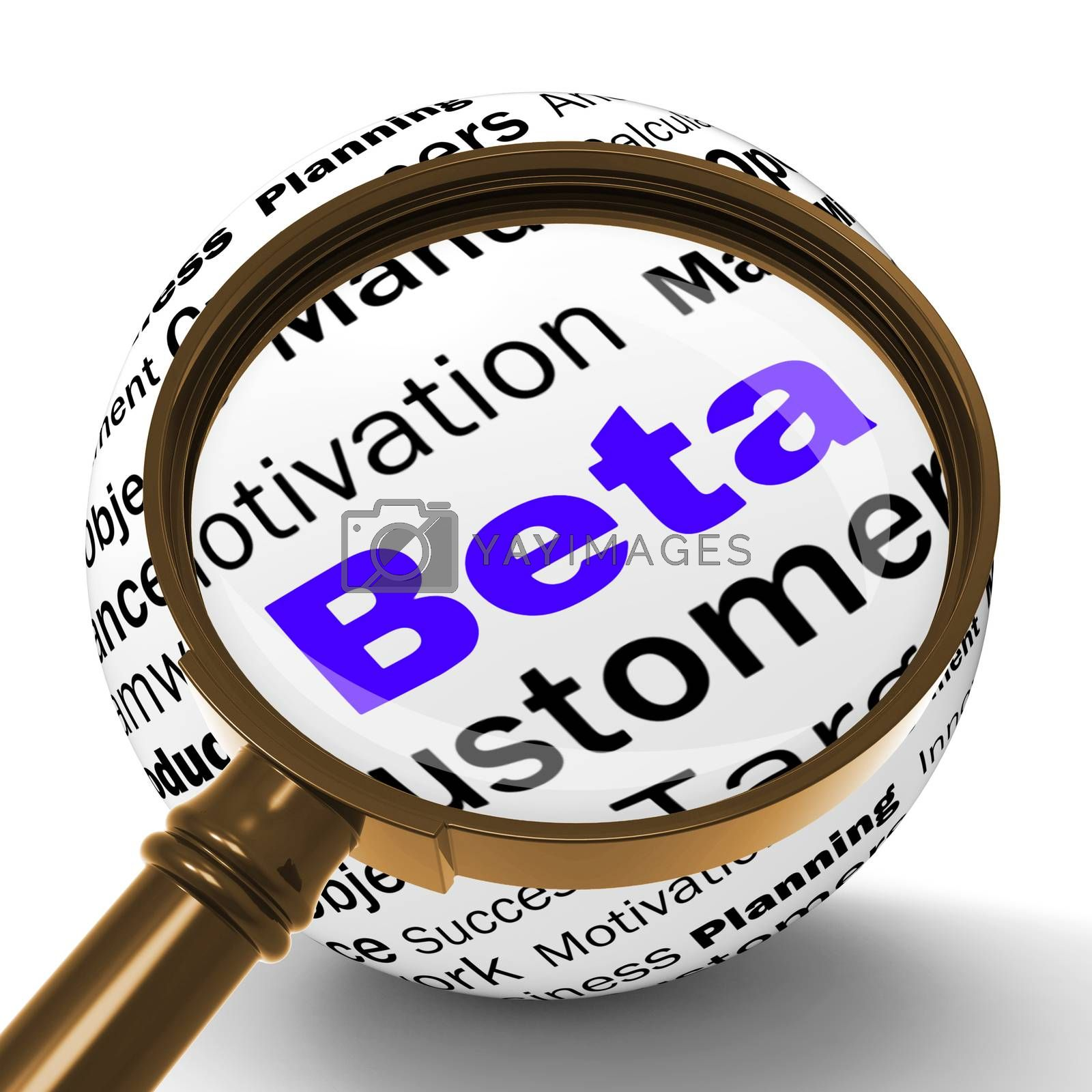 Beta Magnifier Definition Shows Trial Version Or Testing by stuartmiles