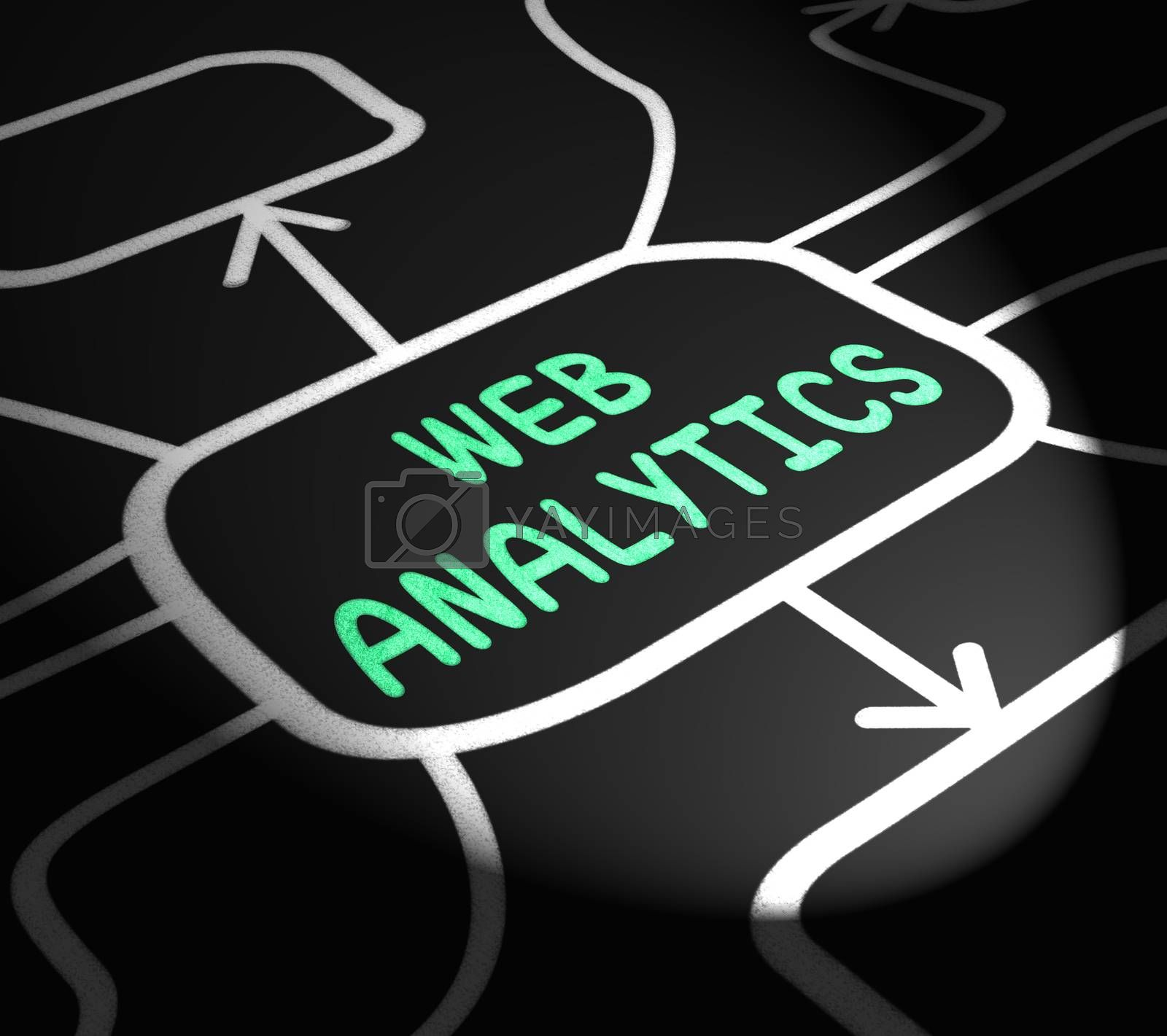 Web Analytics Arrows Means Collecting And Analyzing Internet Dat by stuartmiles