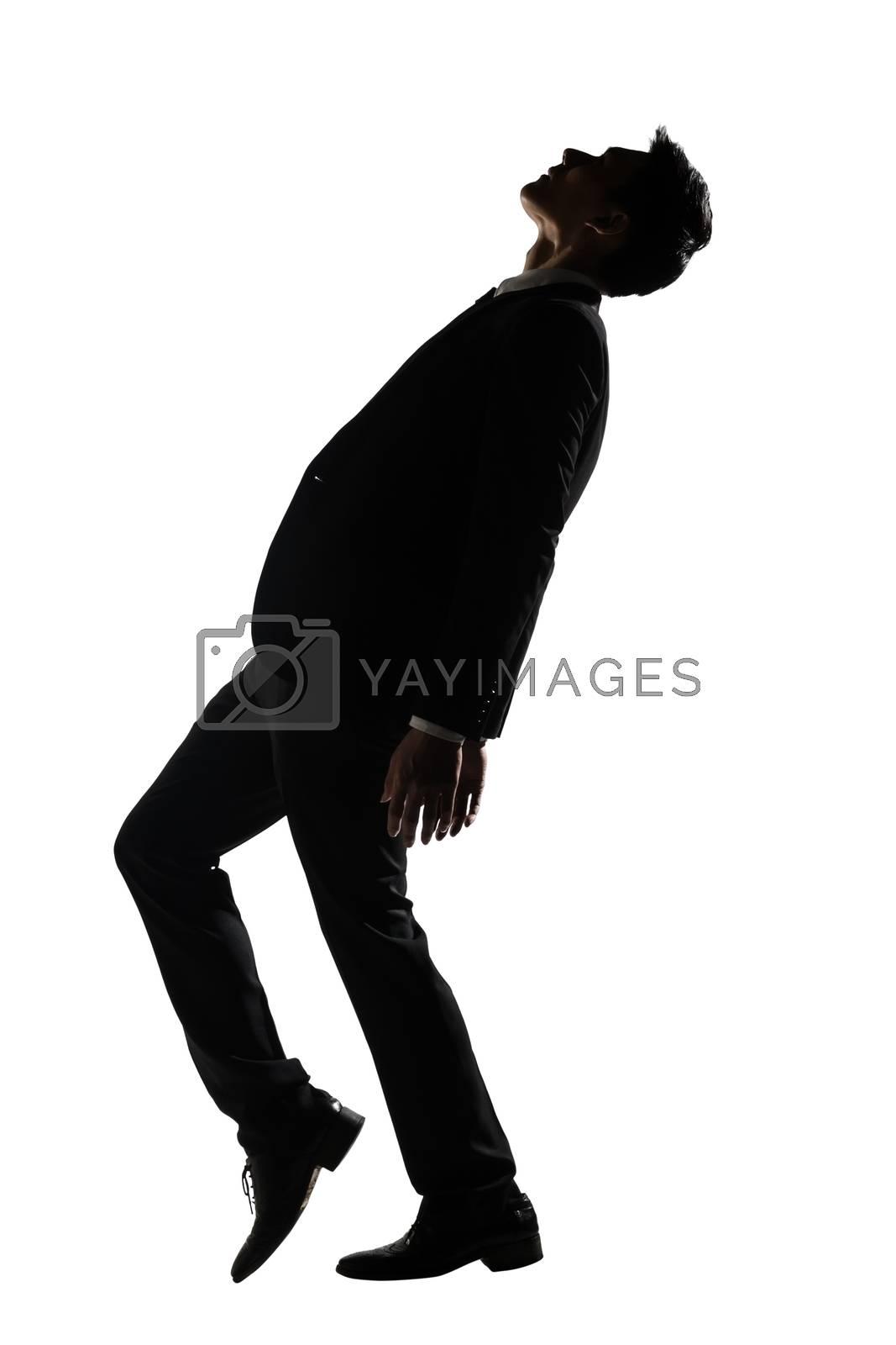 Asian businessman dancing by elwynn