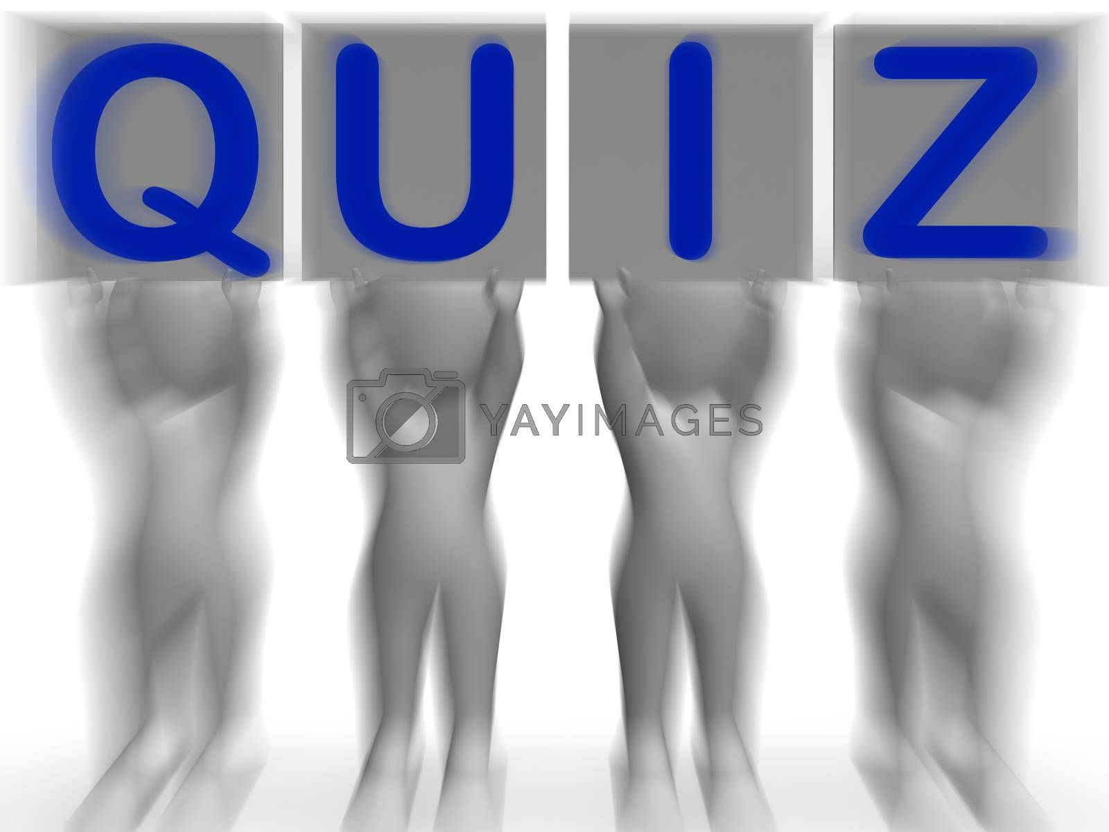 Quiz Placards Means Quiz Games Or Exams by stuartmiles