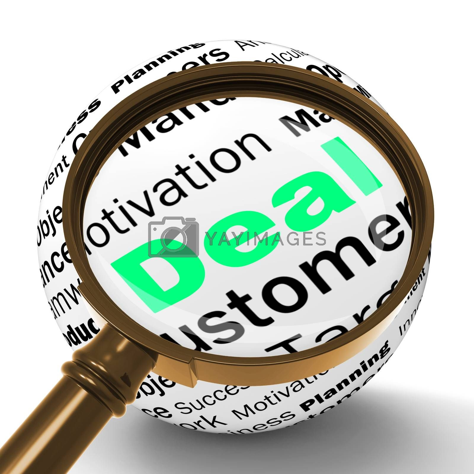 Deal Magnifier Definition Shows Special Promotions Or Trades by stuartmiles