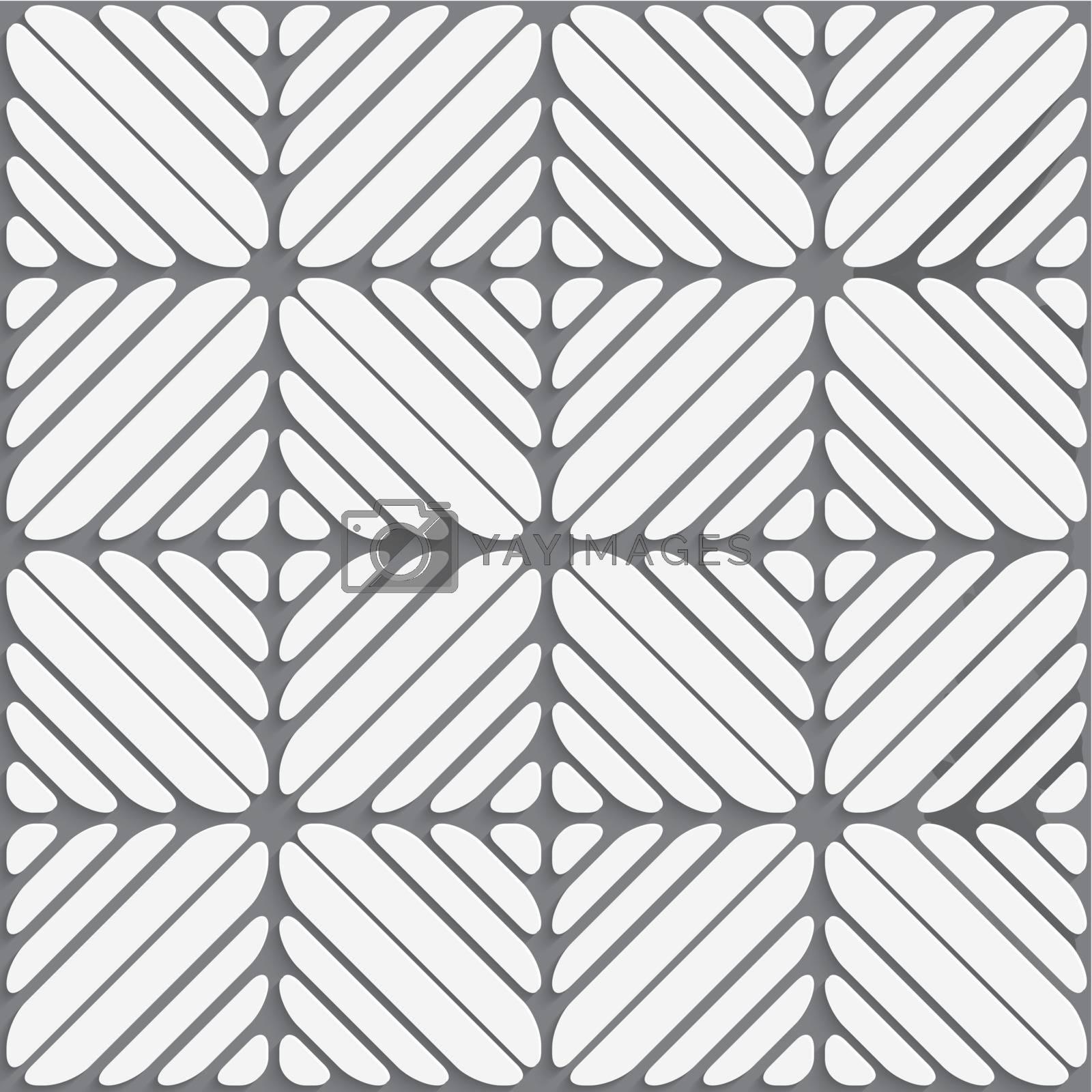 White on gray seamless ornament by Zebra-Finch