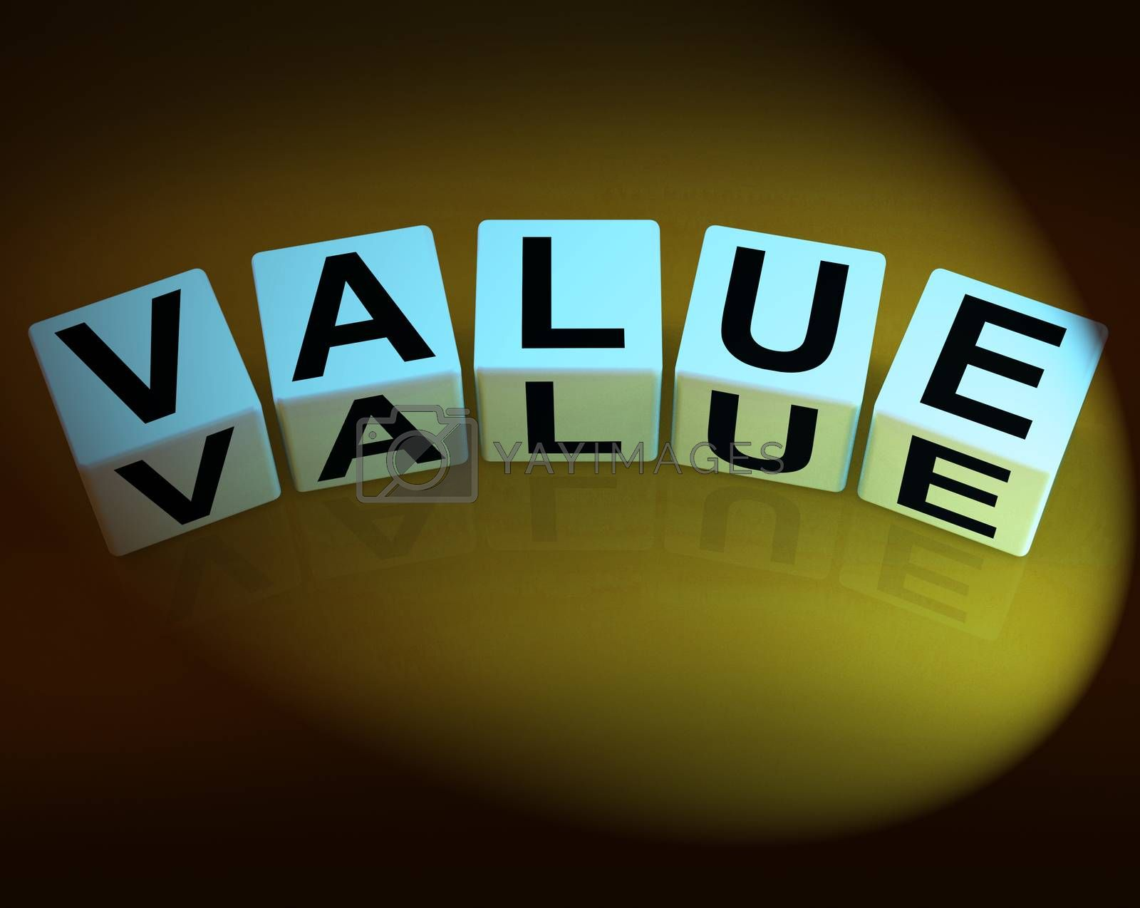 Value Dice Represent Importance Significance and Worth by stuartmiles