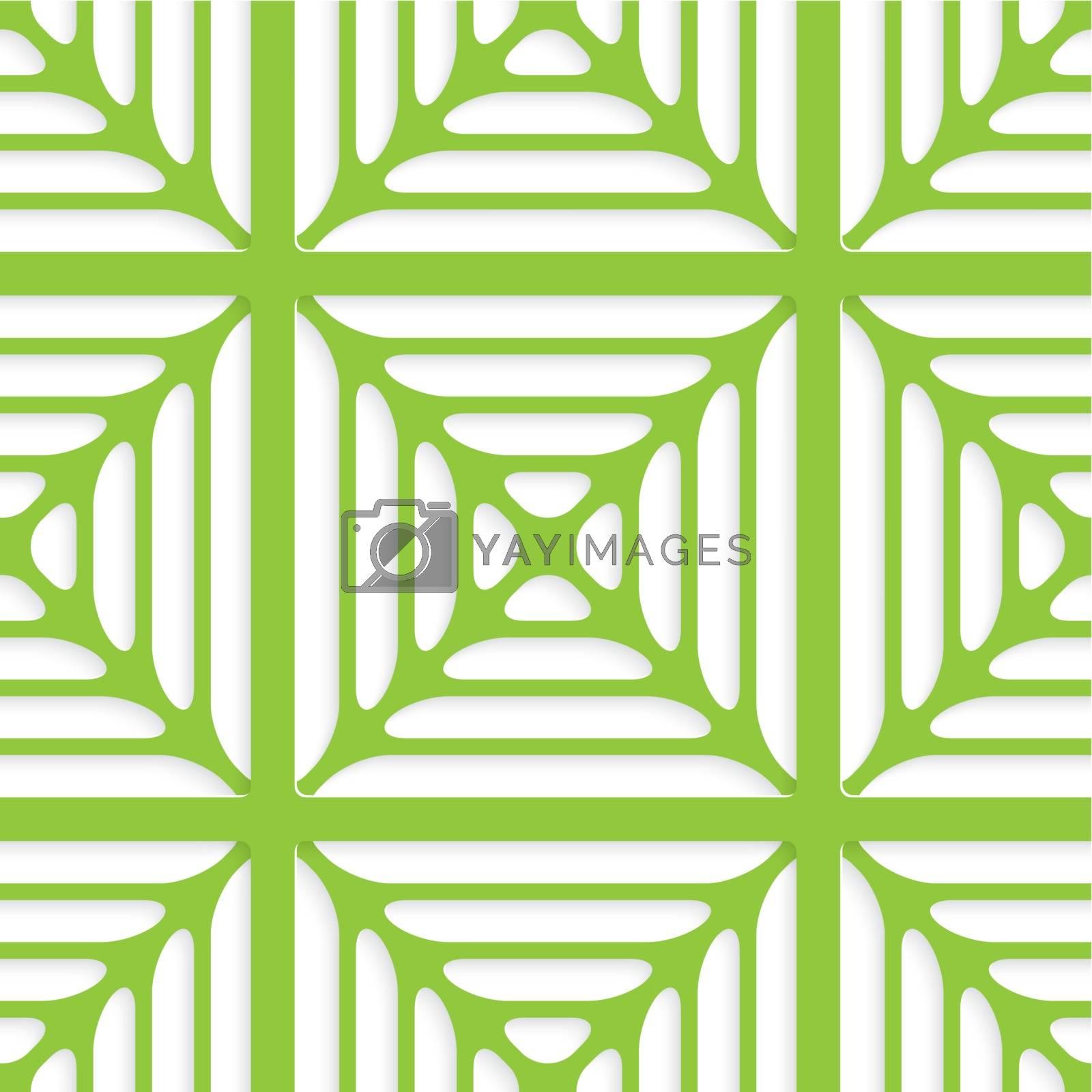 Green layered ornament seamless by Zebra-Finch