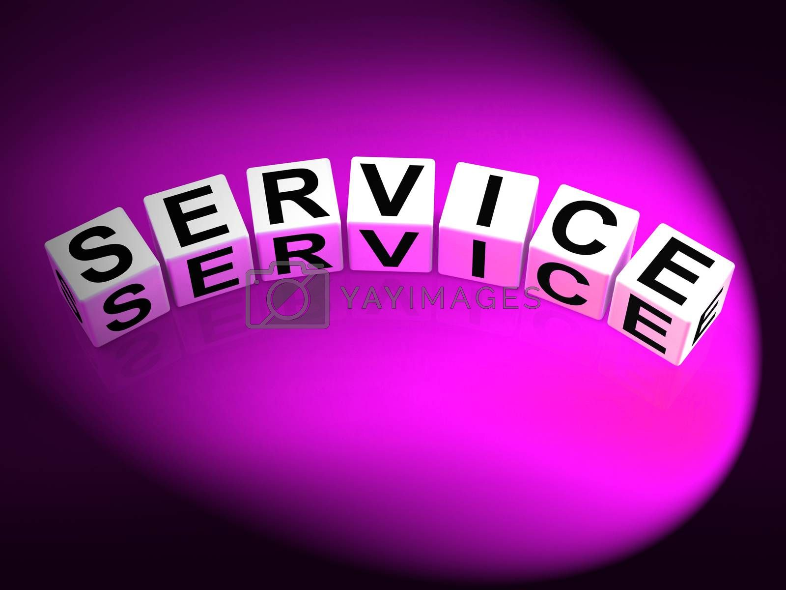 Service Dice Refer to Assistance Help work or Business by stuartmiles
