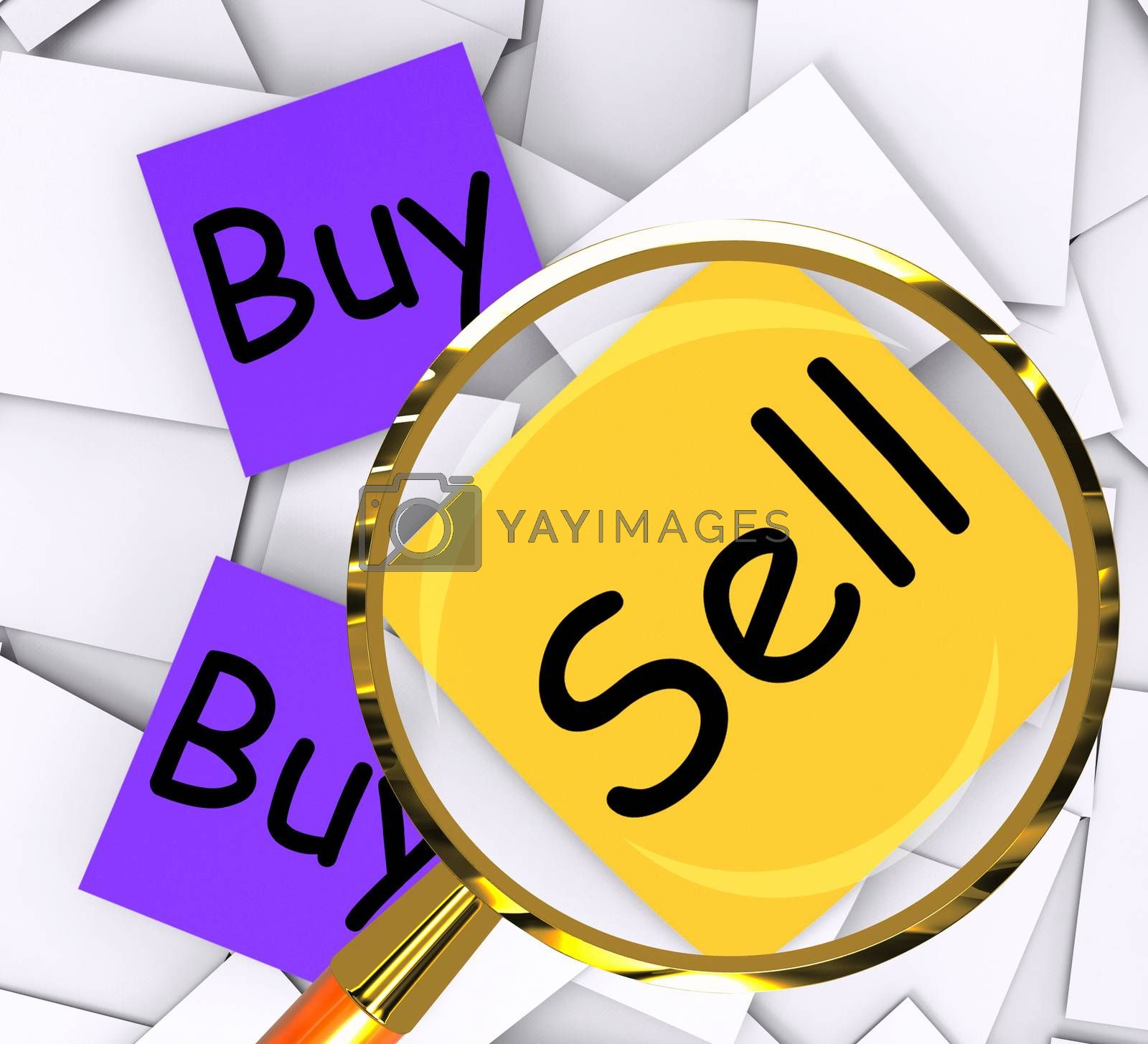 Buy Sell Post-It Papers Mean Shopping Retail And Trade by stuartmiles