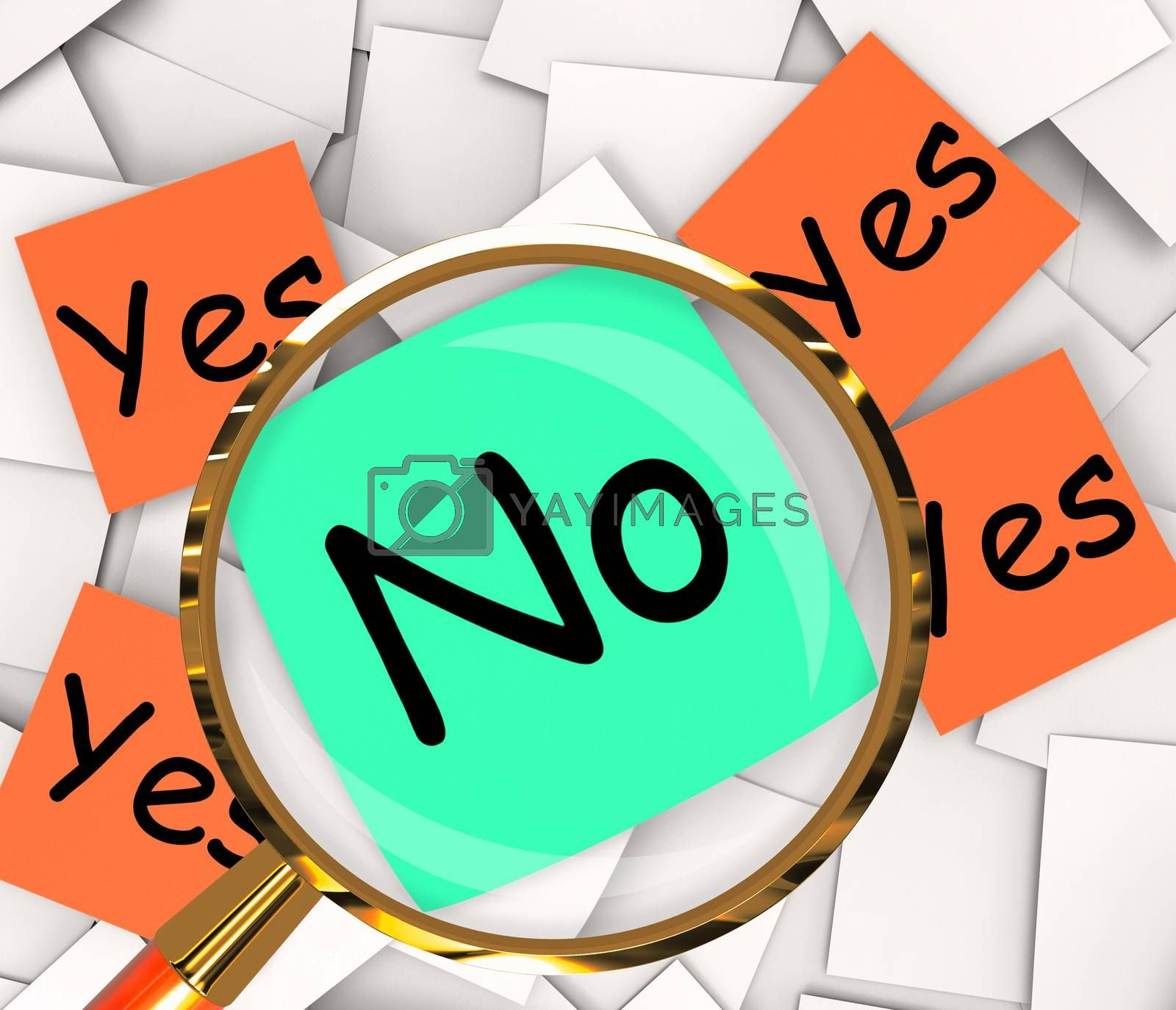 Yes No Post-It Papers Show Affirmative Or Negative by stuartmiles