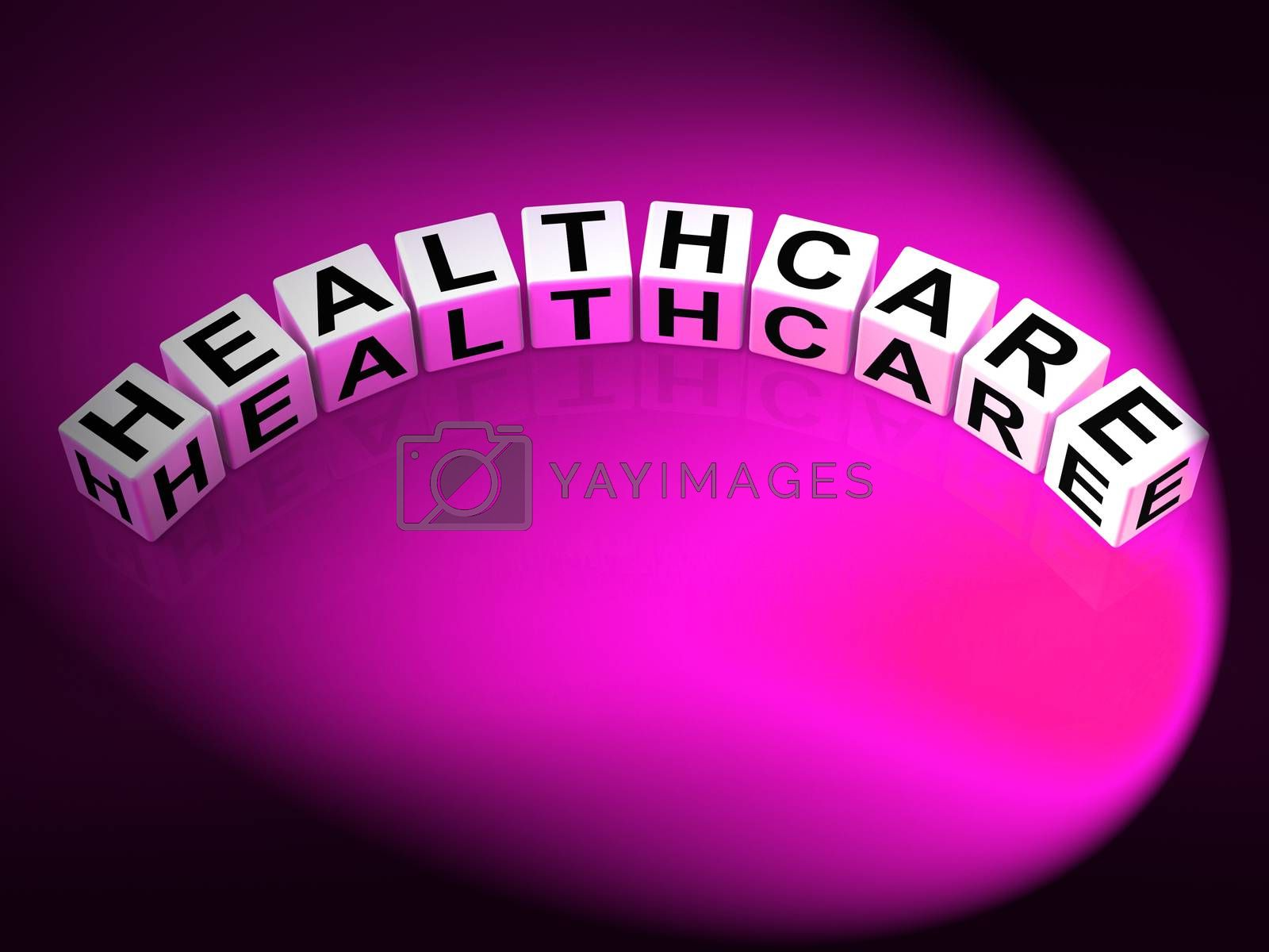 Healthcare Letters Show Medical Wellbeing And Health Checks by stuartmiles