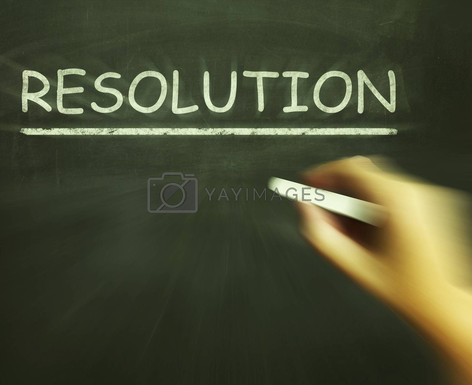 Resolution Chalk Means Solution Settlement Or Outcome by stuartmiles