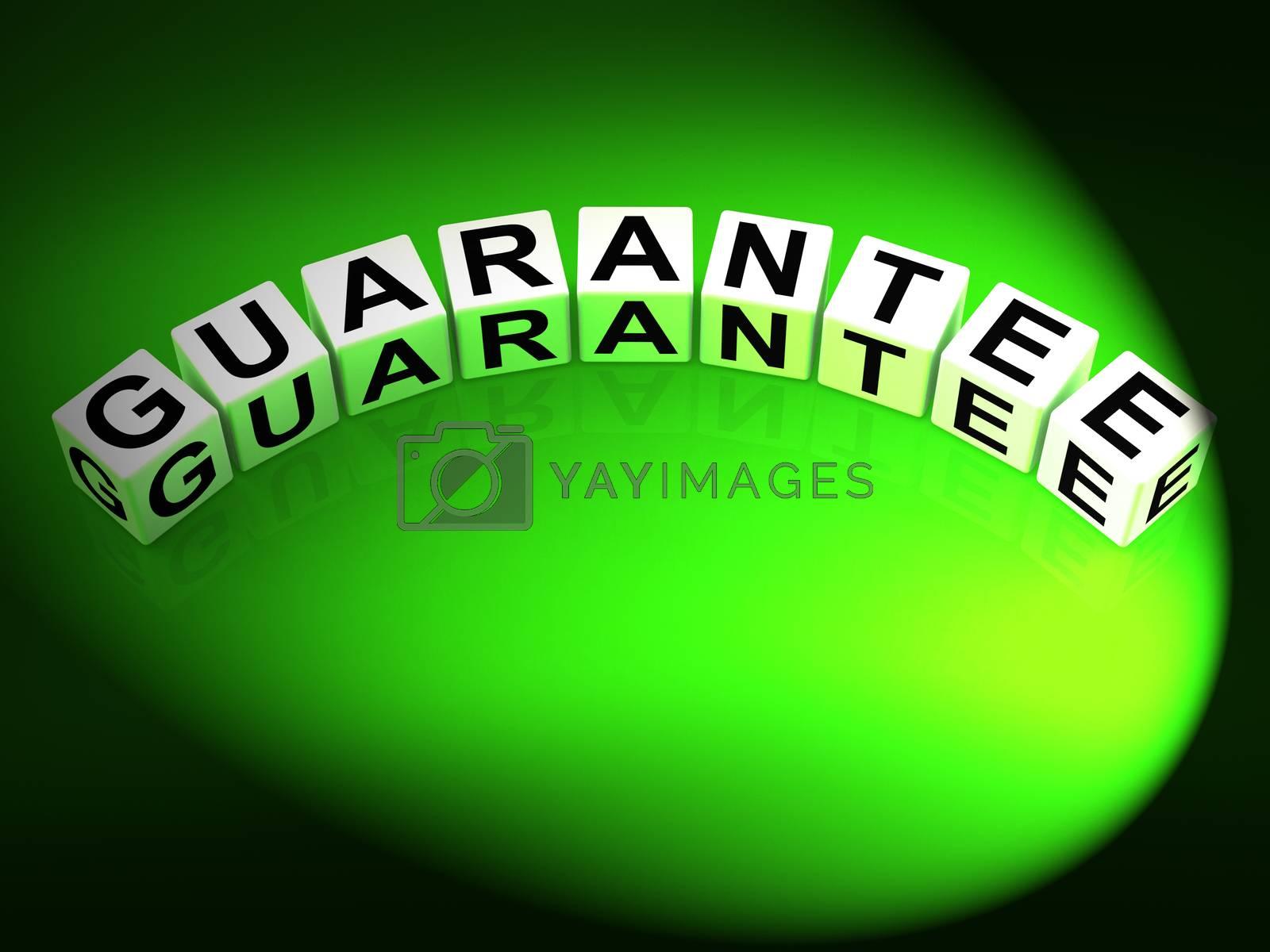 Guarantee Dice Show Pledge of Risk Free Guaranteed by stuartmiles