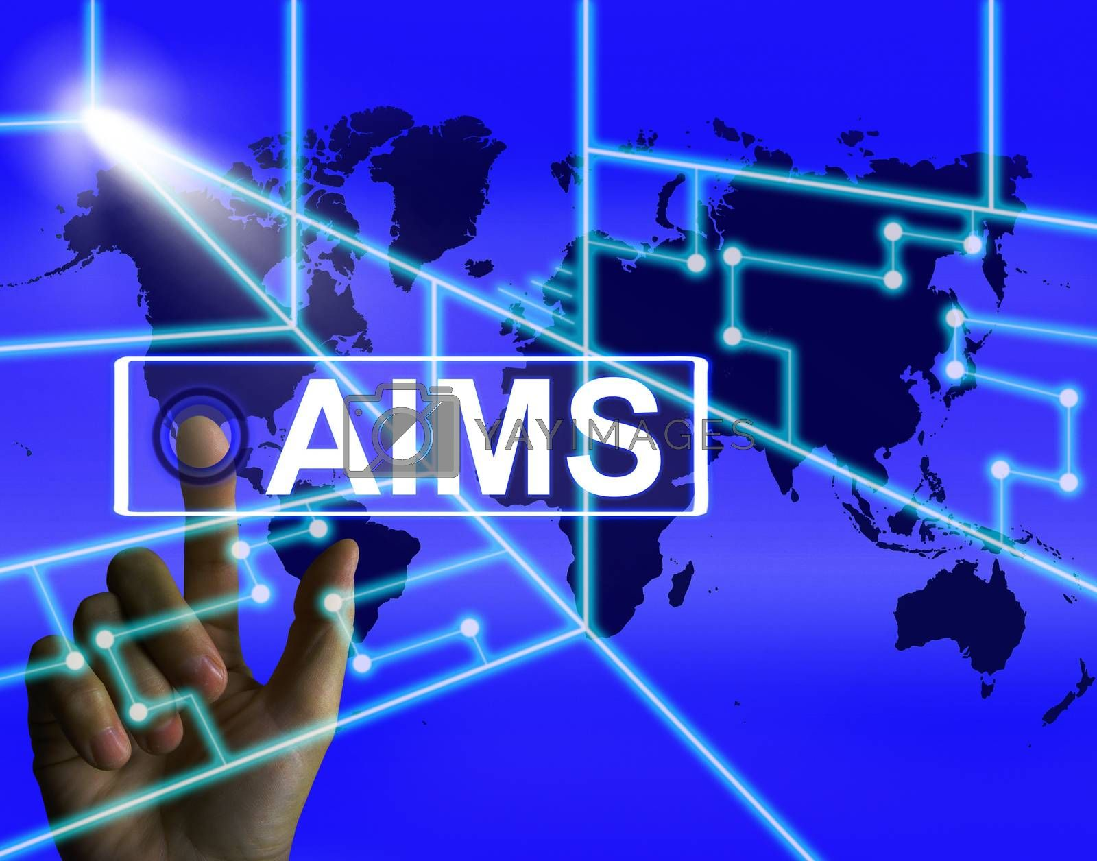 Aims Screen Shows International Goals and Worldwide Aspirations by stuartmiles