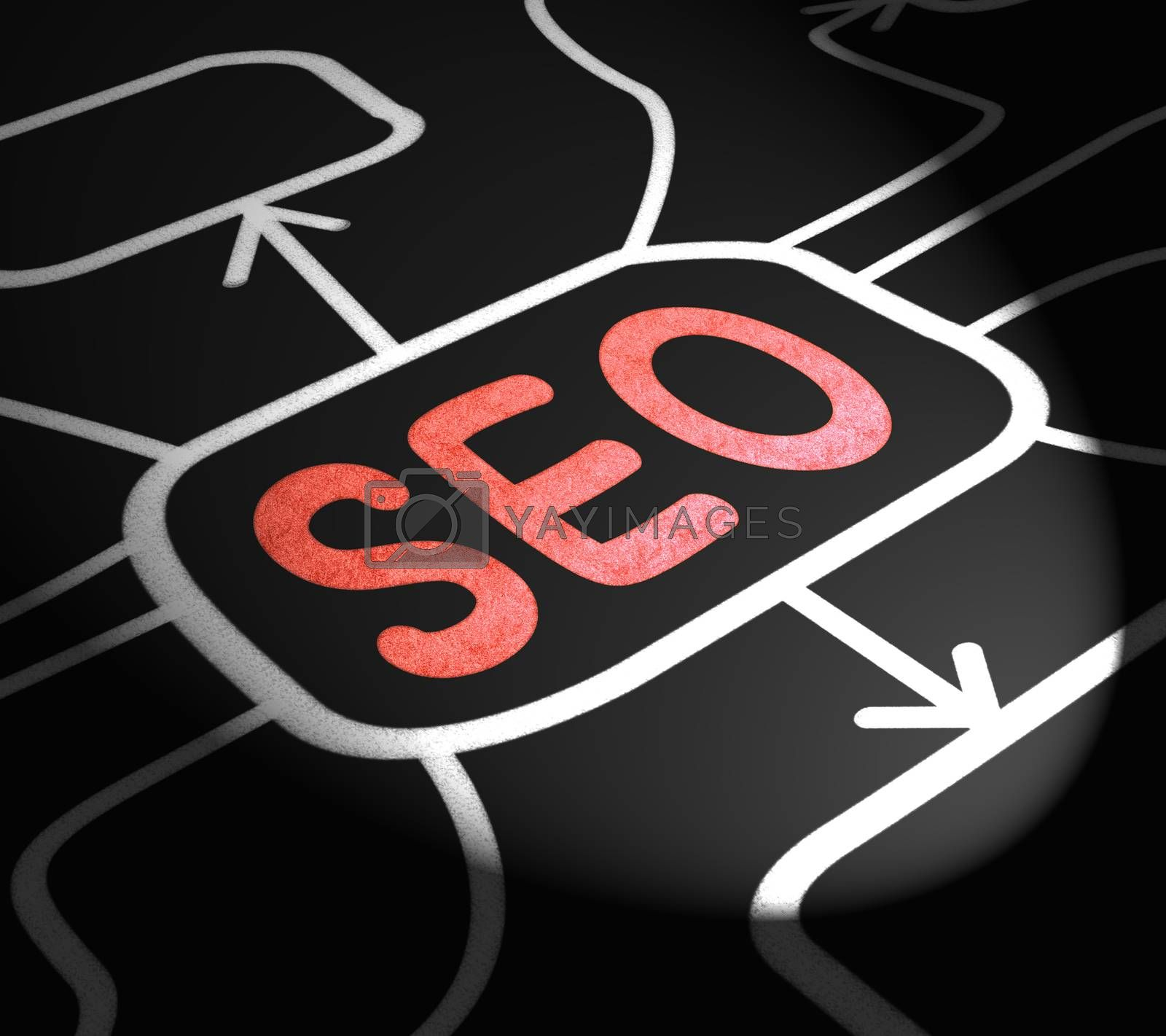 SEO Arrows Means Search Engine Optimization On Web by stuartmiles