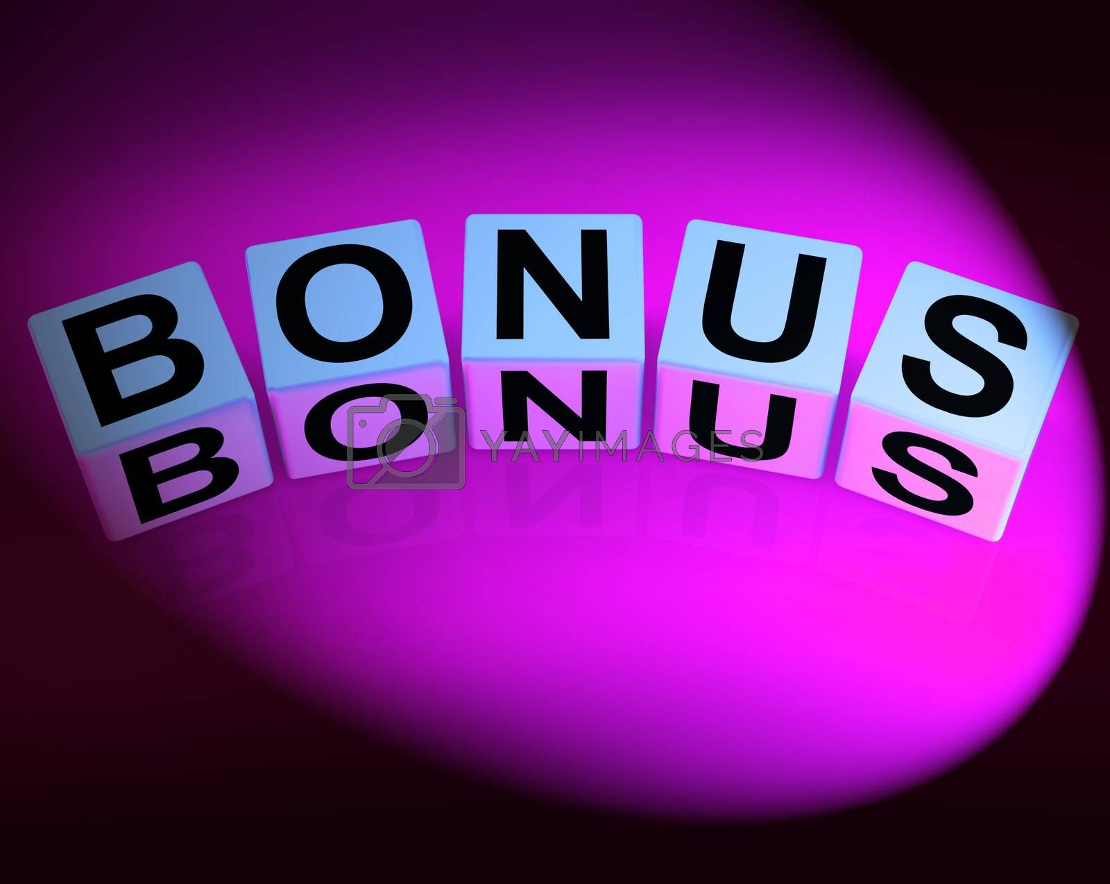 Bonus Dice Indicate Promotional Gratuity Benefits and Bonuses by stuartmiles