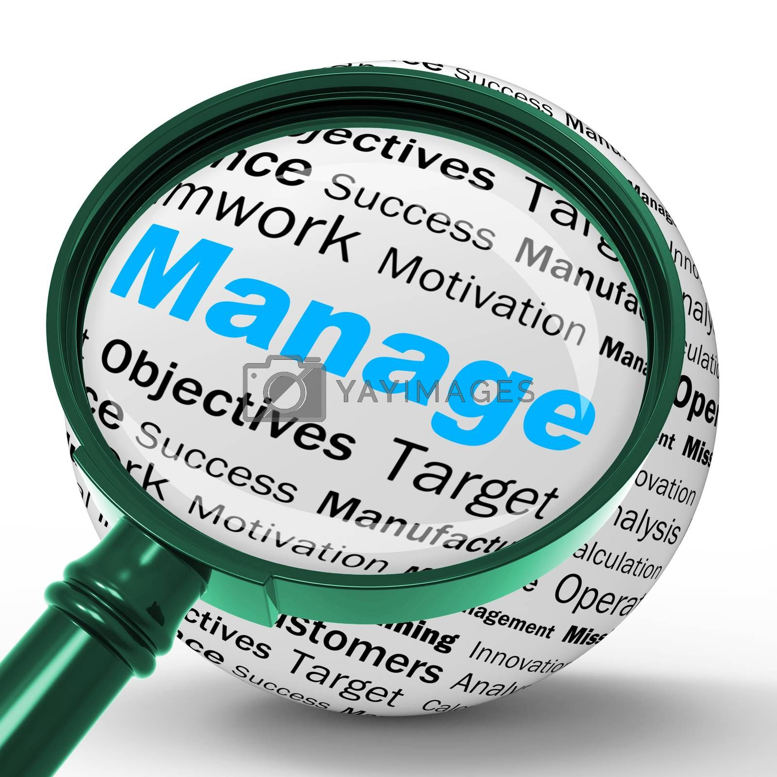 Manage Magnifier Definition Means Business Administration Or Dev by stuartmiles