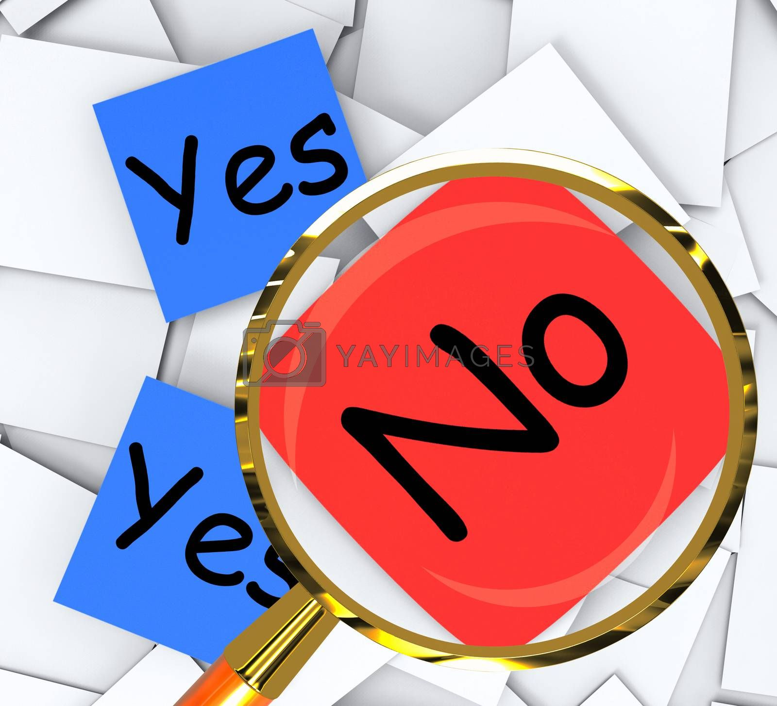 Yes No Post-It Papers Show Accept Or Decline by stuartmiles