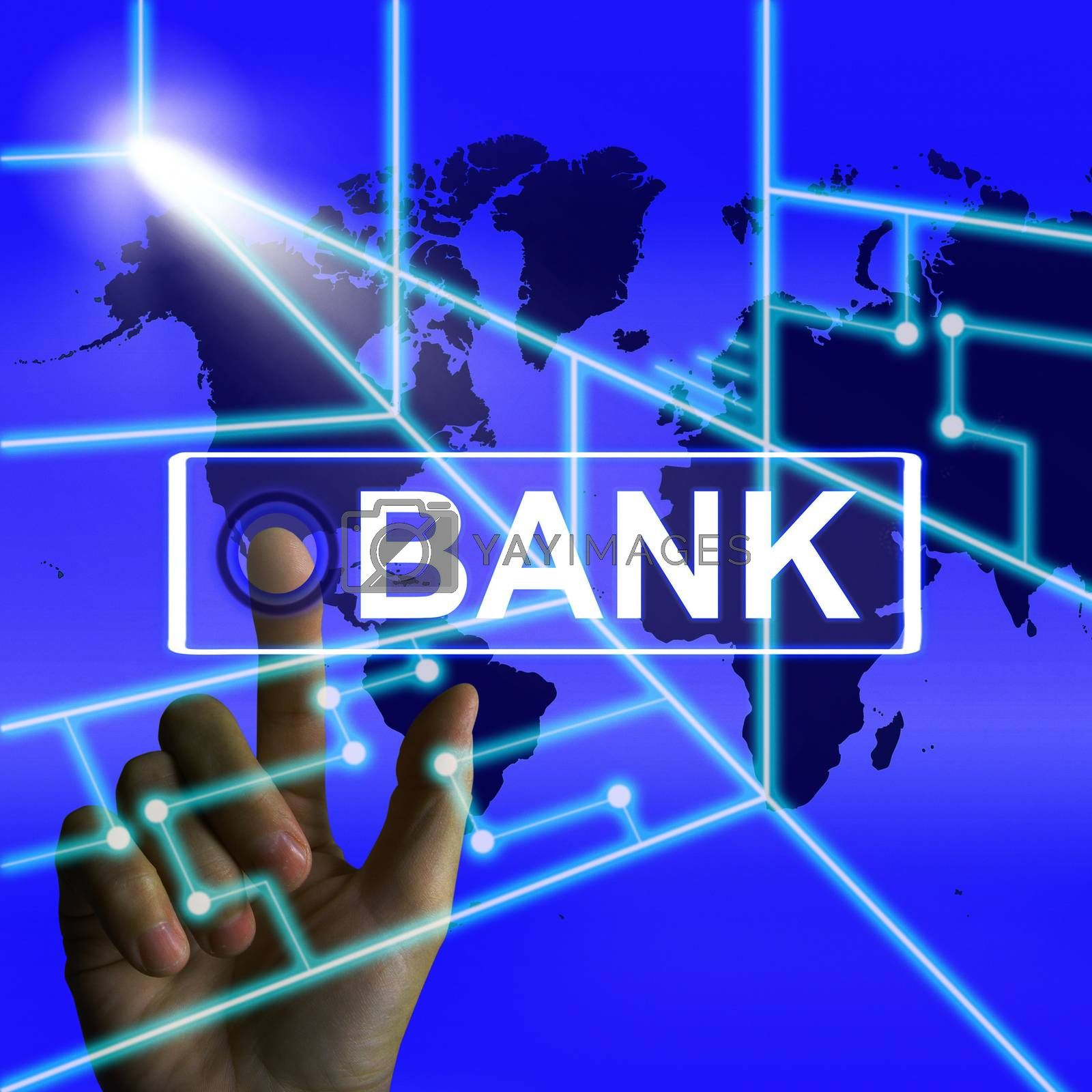 Bank Screen Indicates Online and Internet Banking by stuartmiles