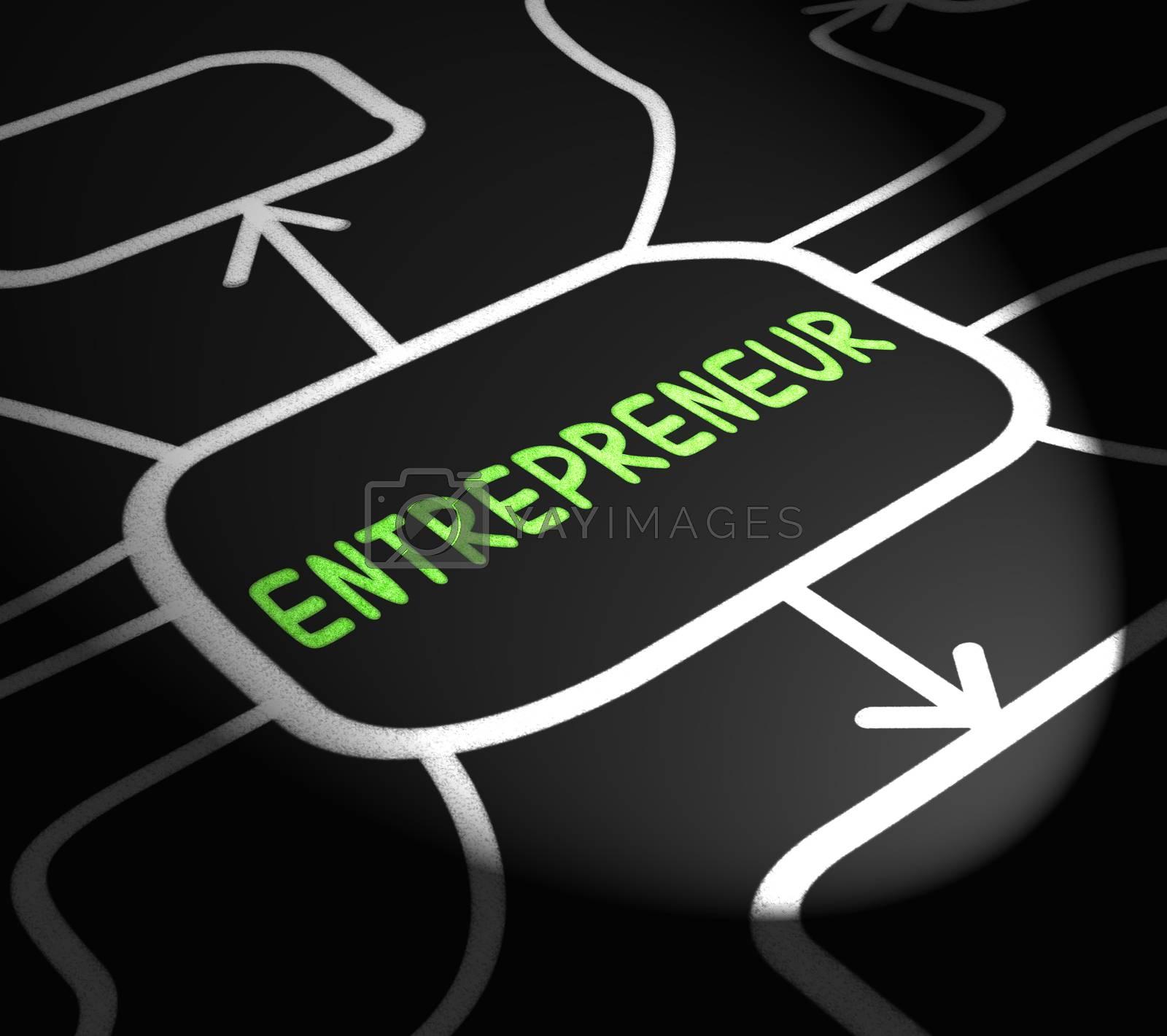 Entrepreneur Arrows Means Starting Business Or Venture by stuartmiles