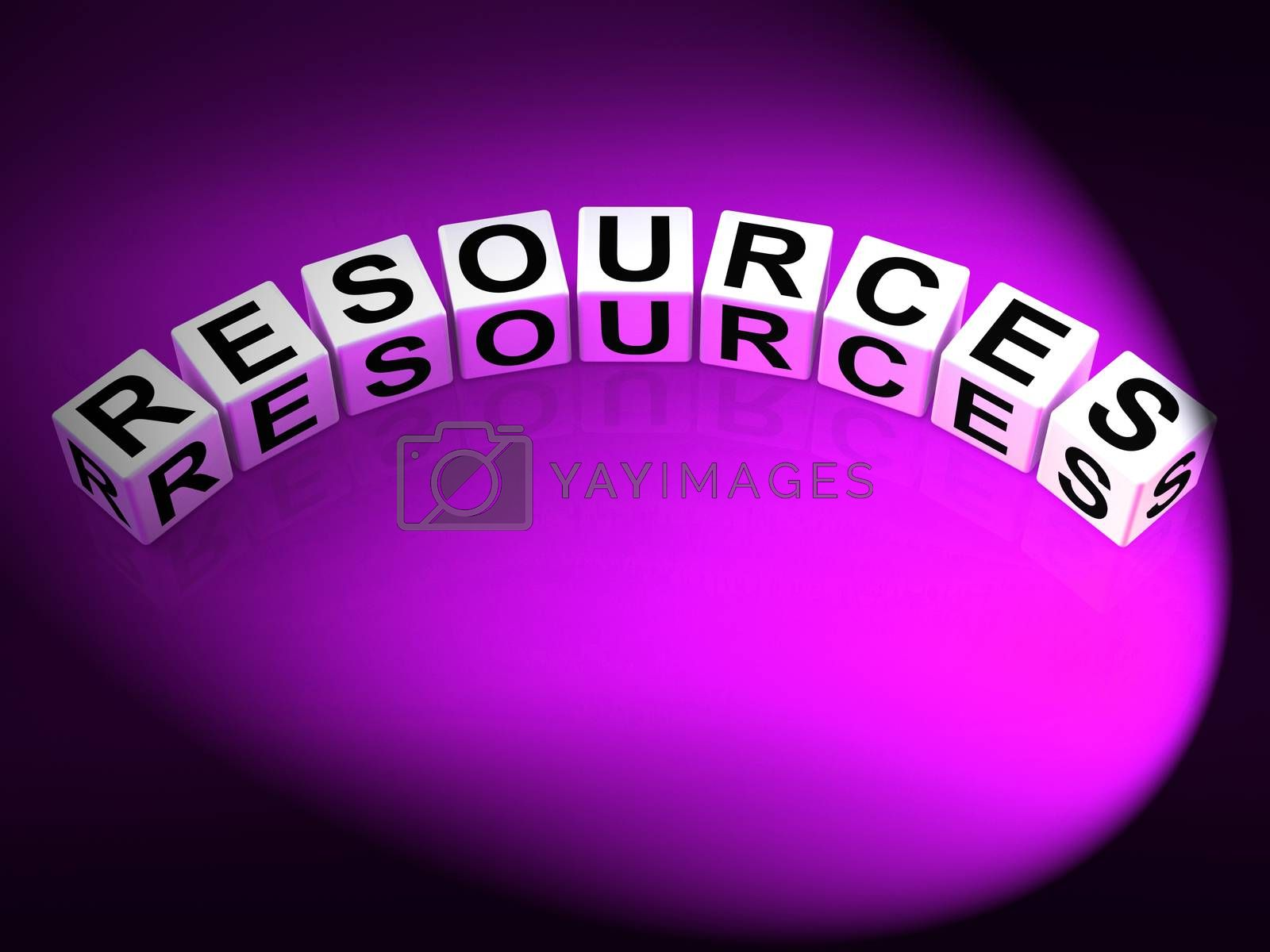 Resources Dice Mean Collateral Assets and Savings by stuartmiles
