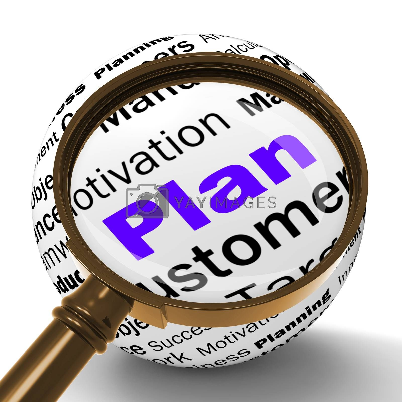 Plan Magnifier Definition Means Planning Or Objective Managing by stuartmiles