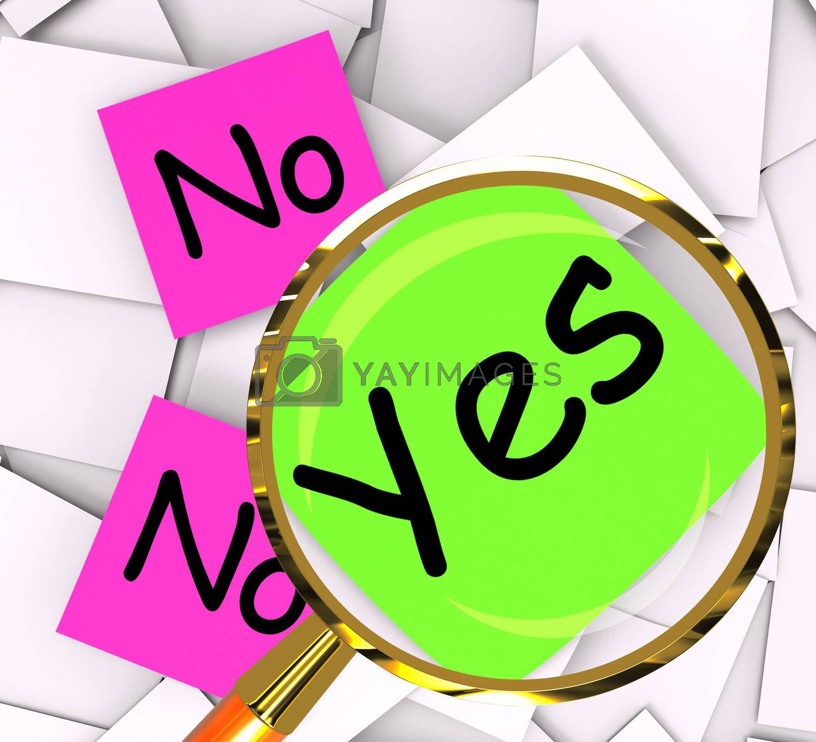 Yes No Post-It Papers Mean Answers Affirmative Or Negative by stuartmiles