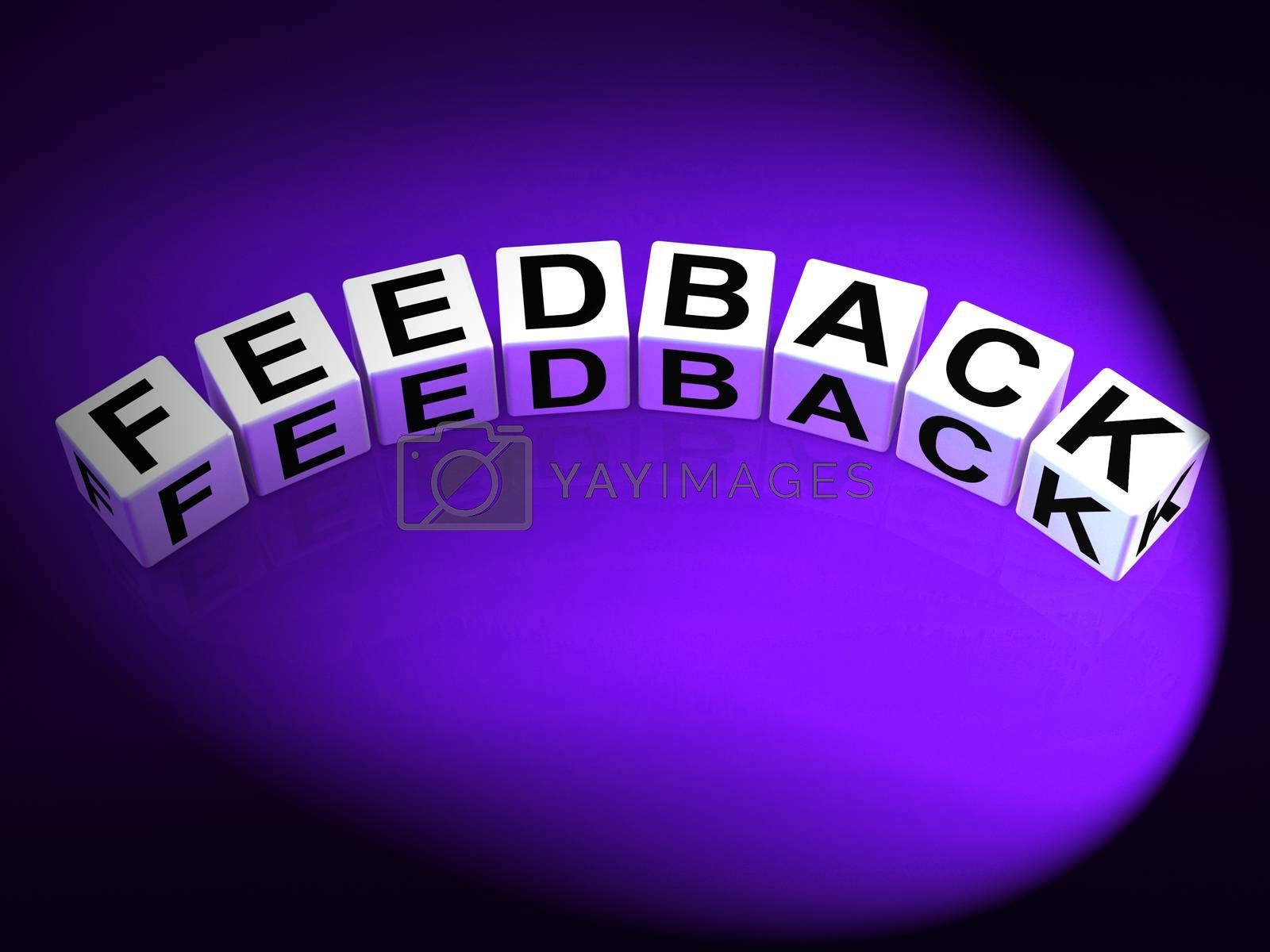 Feedback Dice Means Comment Evaluate and Review by stuartmiles