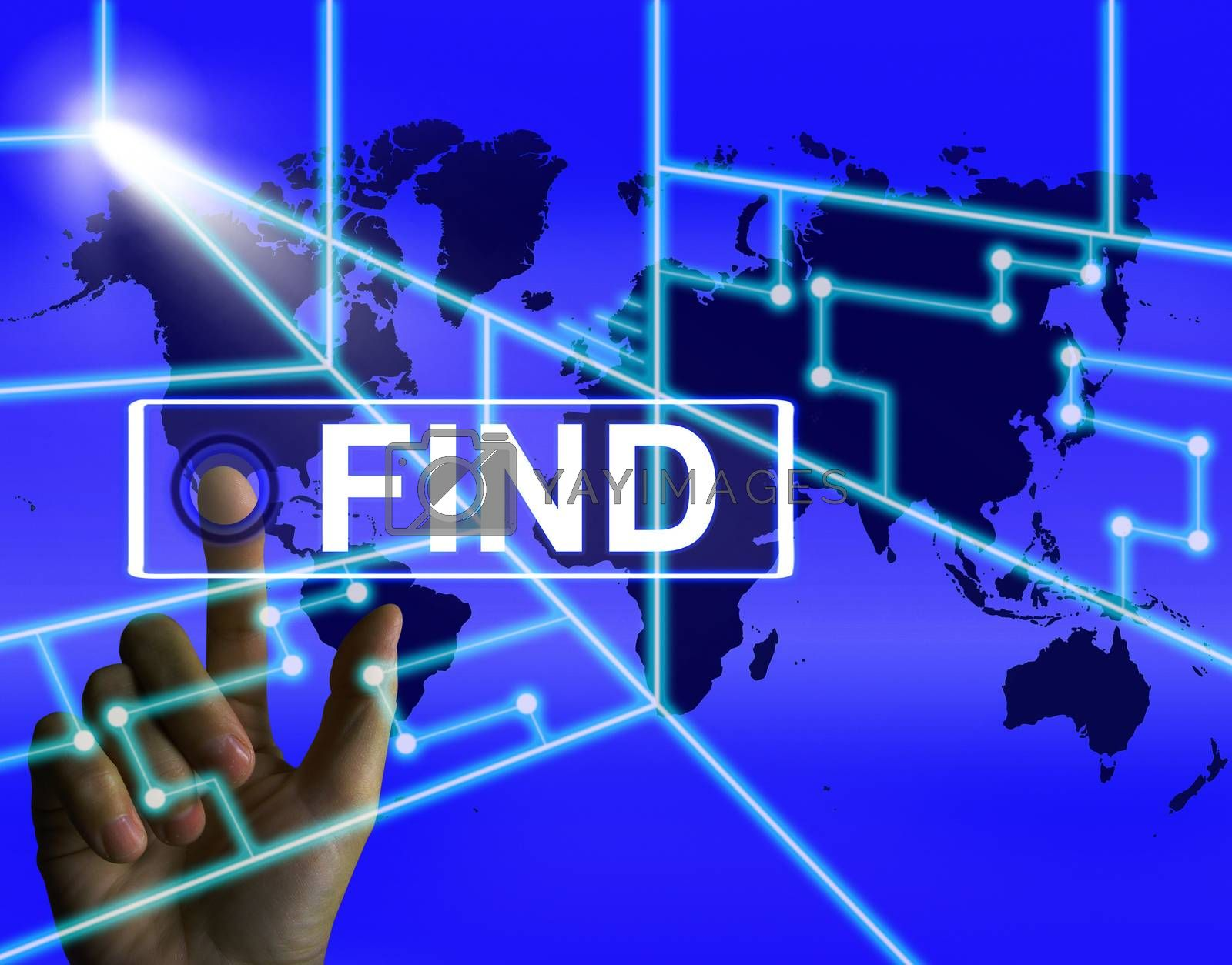 Find Screen Indicates Internet or Online Discovery or Hunt by stuartmiles