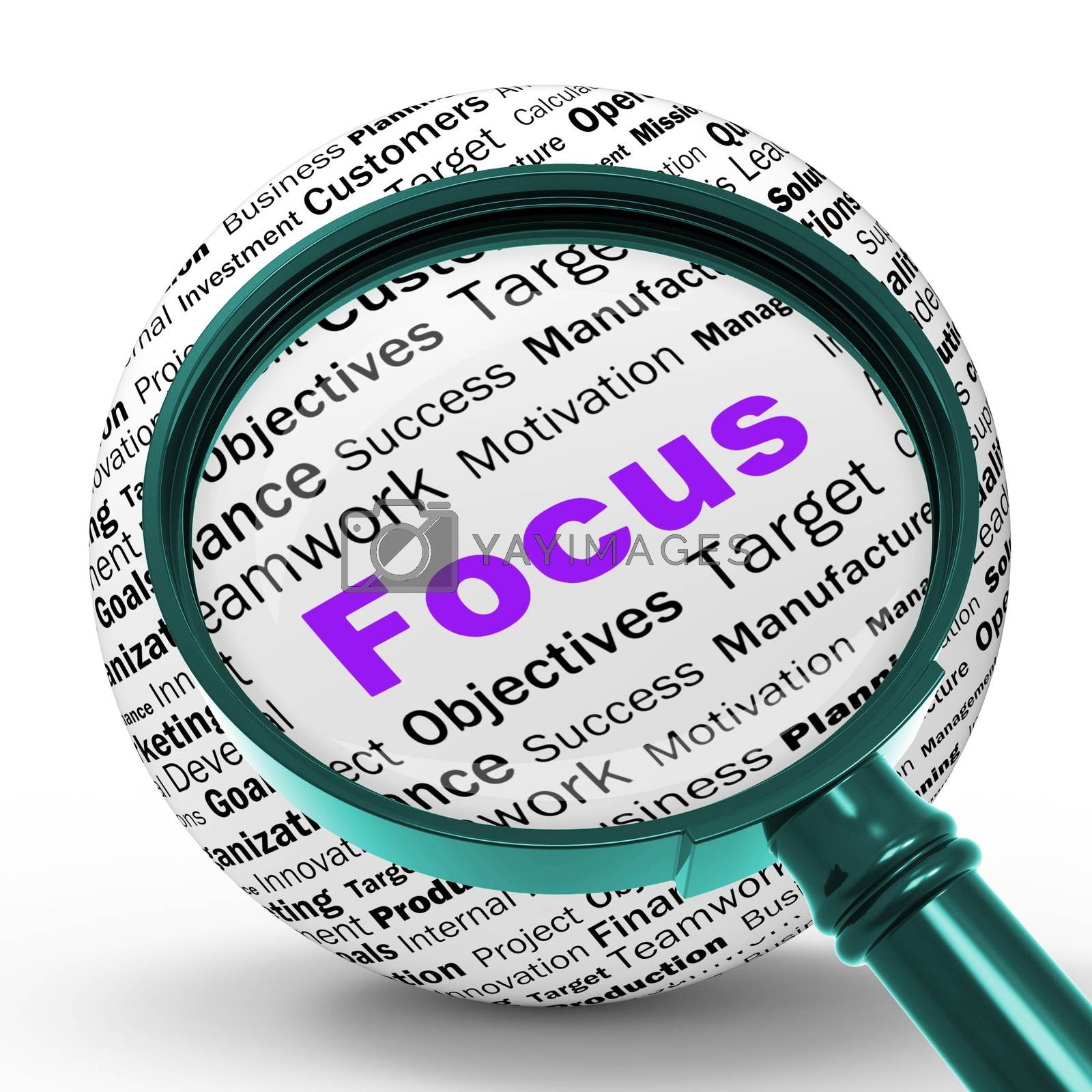 Focus Magnifier Definition Shows Concentration And Targeting by stuartmiles