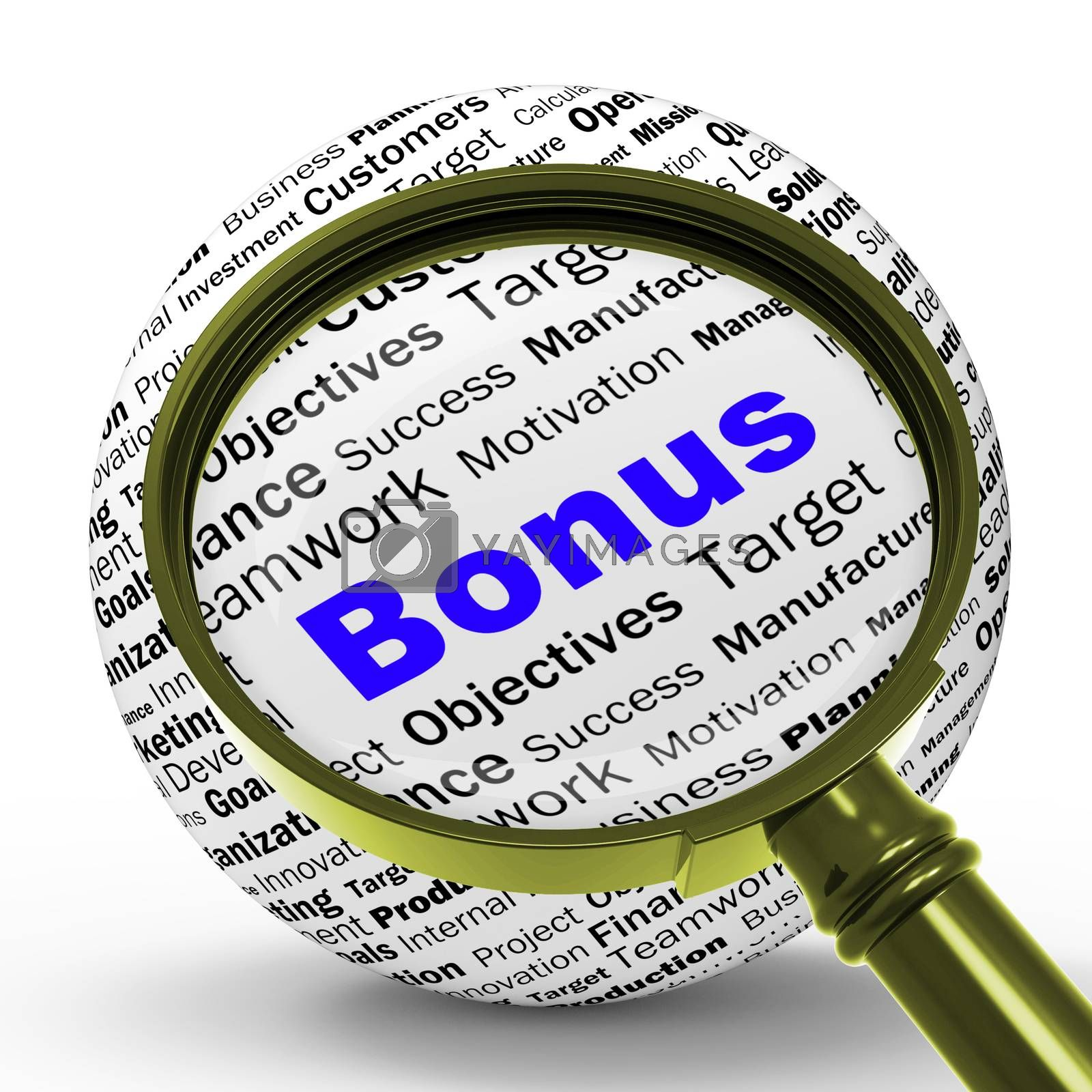 Bonus Magnifier Definition Shows Financial Reward Or Benefit by stuartmiles