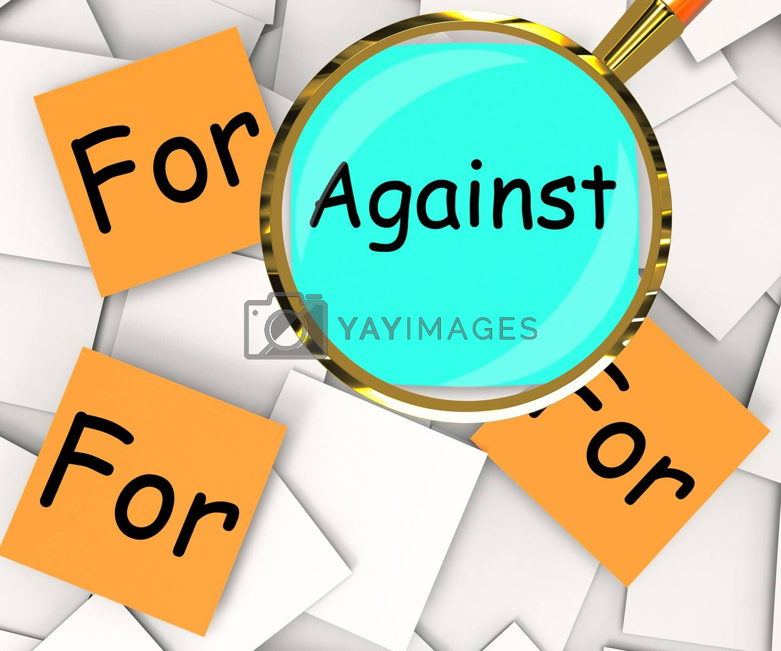 Against For Post-It Papers Mean Disagree With Or Support by stuartmiles