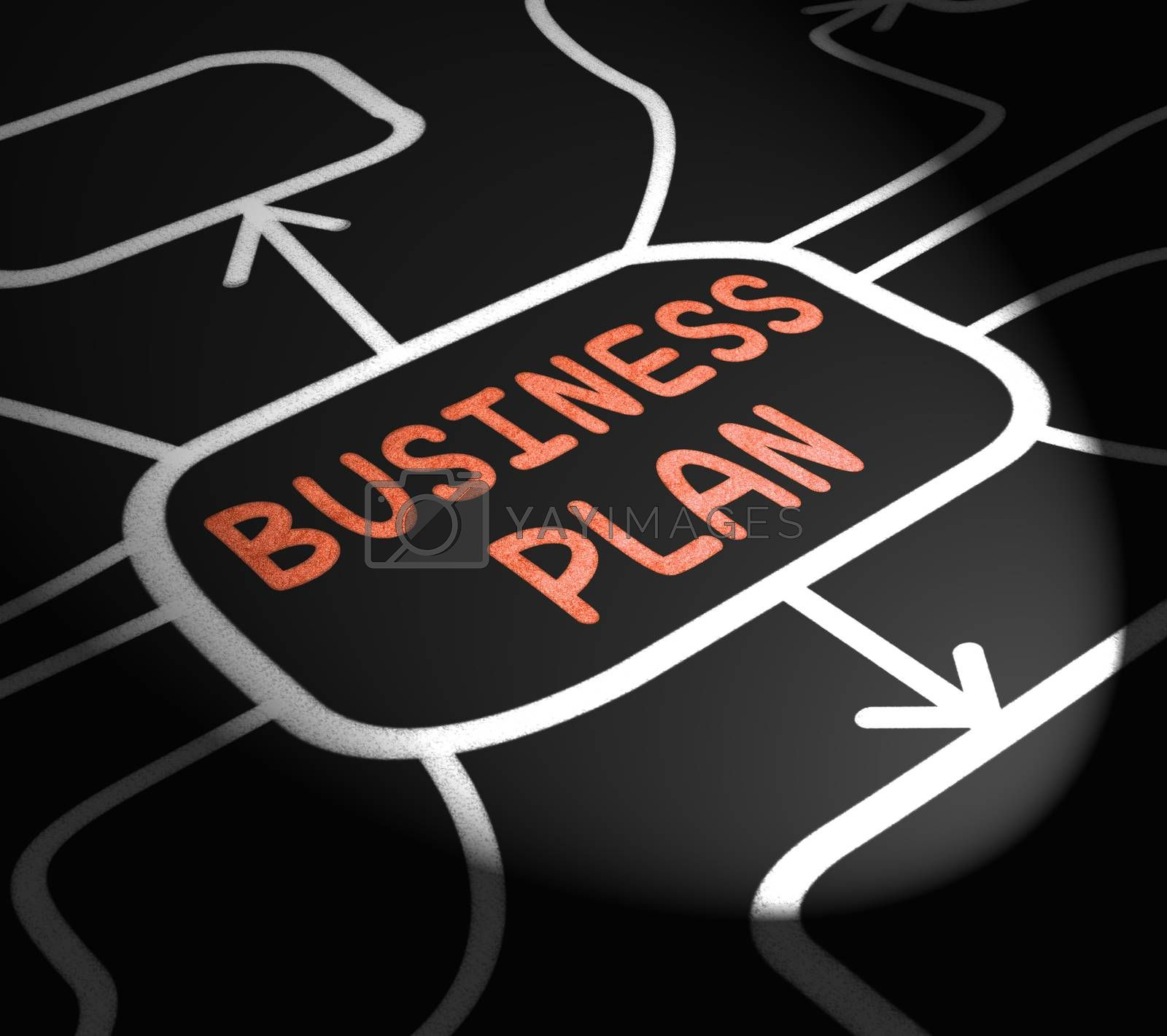 Business Plan Arrows Means Goals And Strategies For Company by stuartmiles