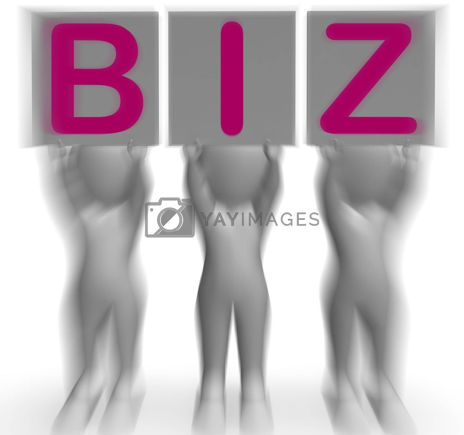 Biz Placards Means Corporate Business And Partnership by stuartmiles