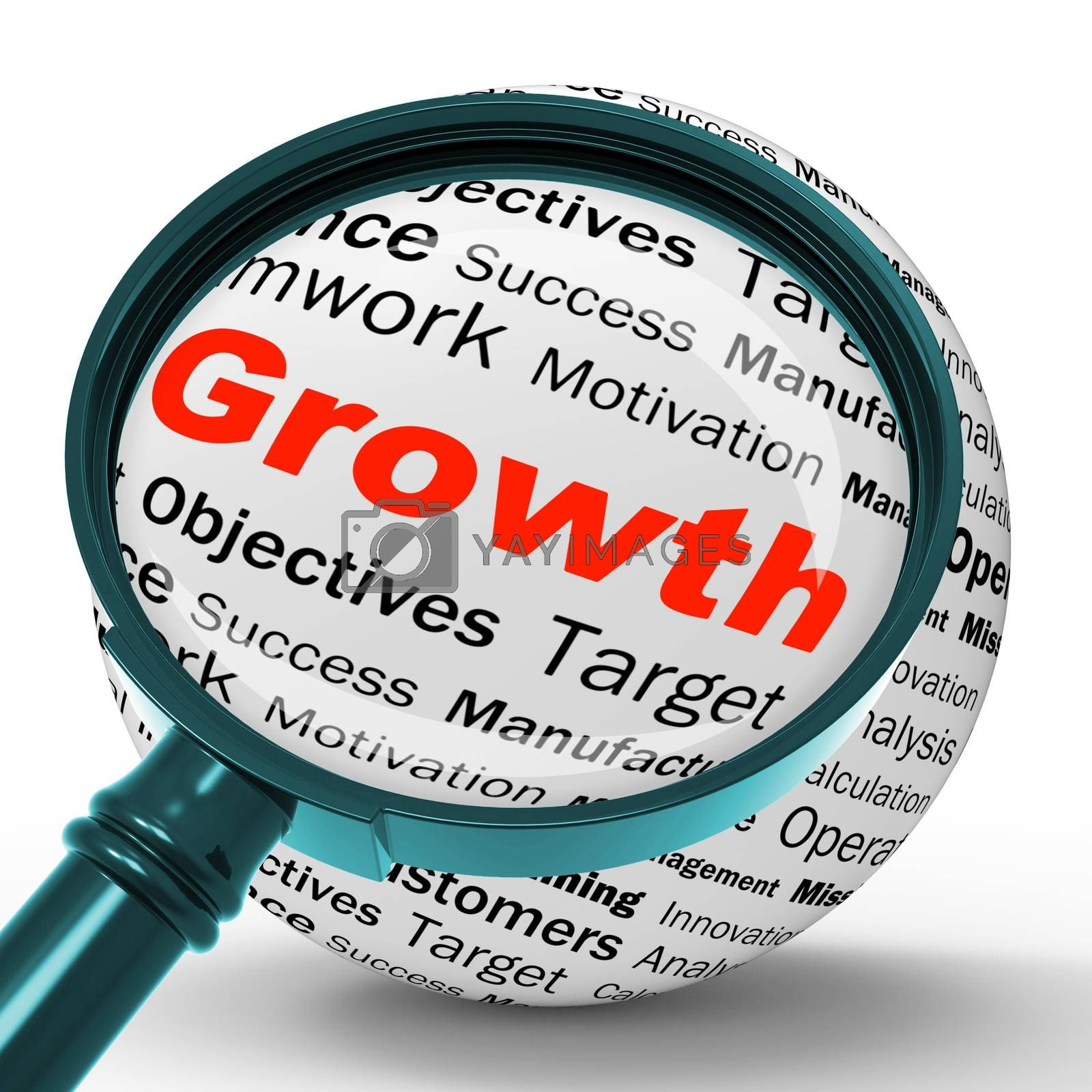 Growth Magnifier Definition Shows Business Progress Or Improveme by stuartmiles
