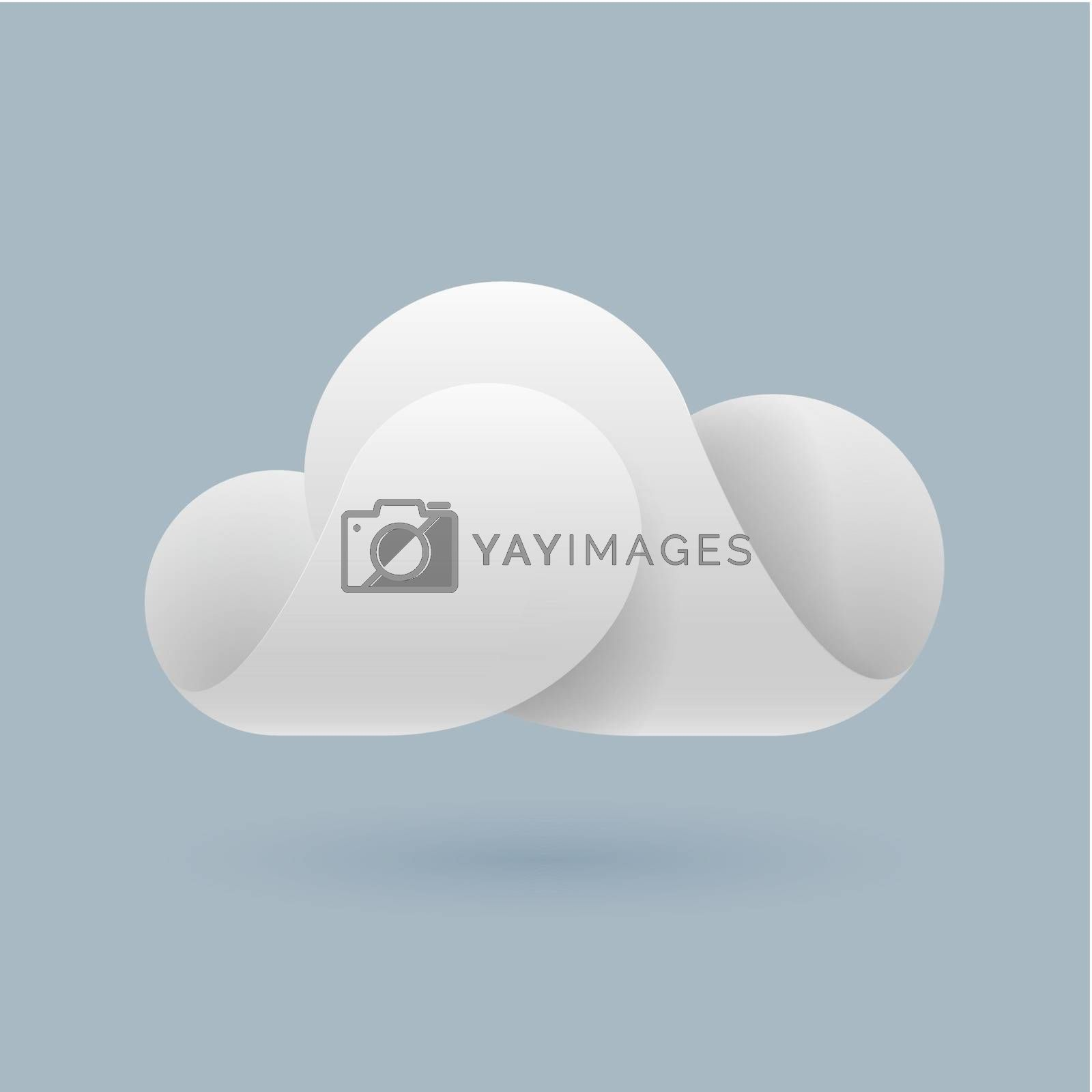 Abstract white cloud by dvarg