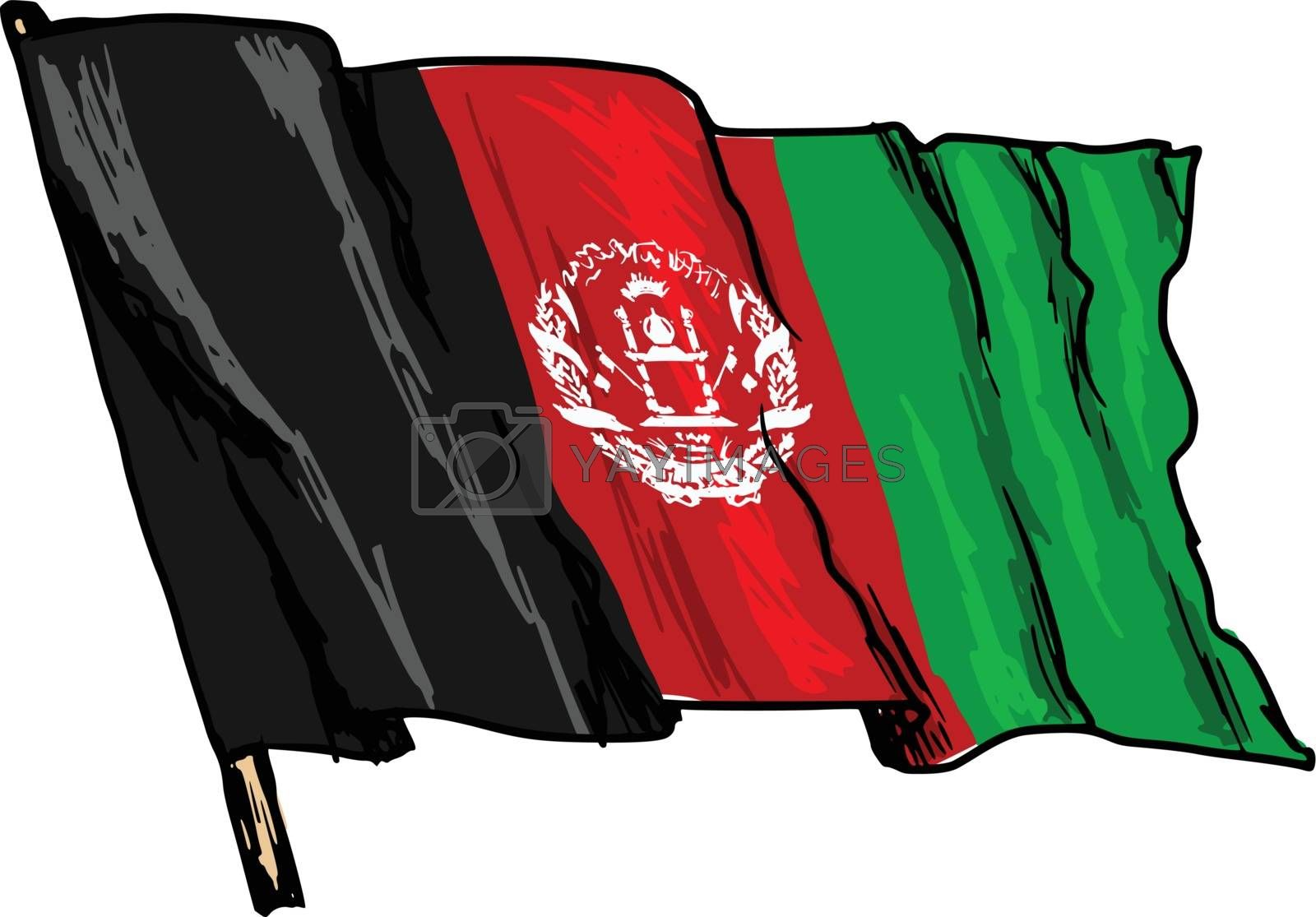 flag of Afghanistan by Perysty