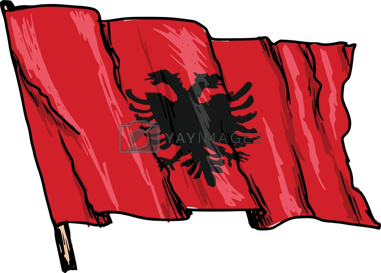 flag of Albania by Perysty