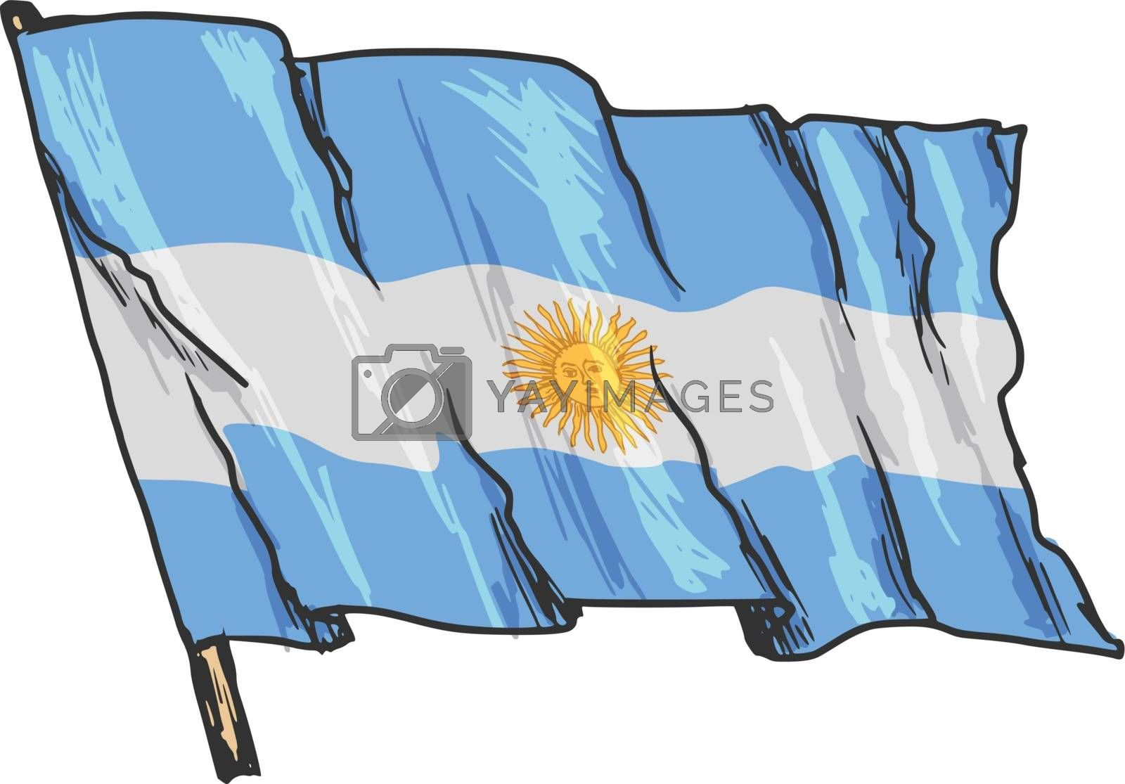 flag of Argentina by Perysty