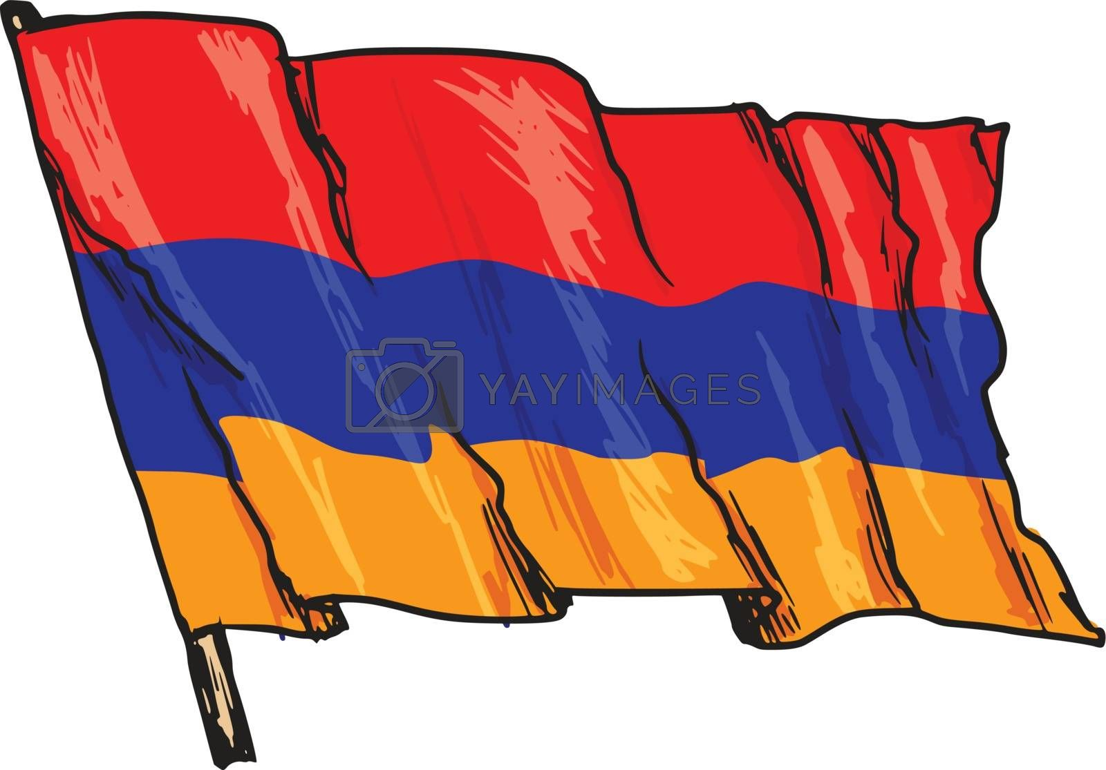 flag of Armenia by Perysty