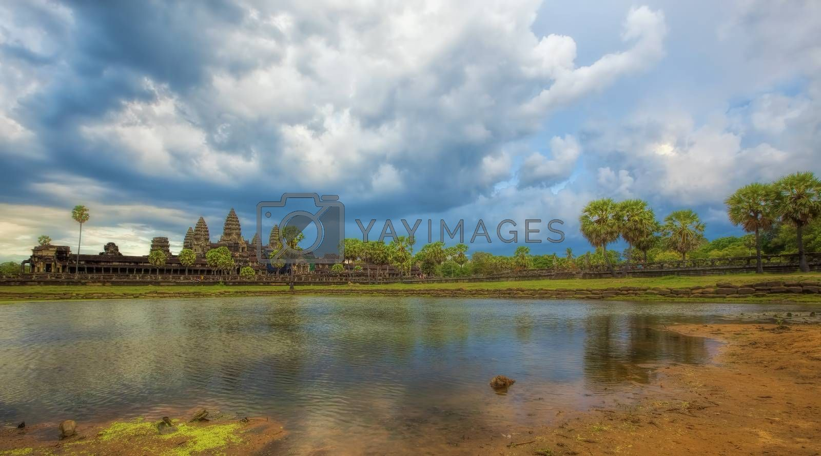 Sunset over Angkor Wat by kjorgen