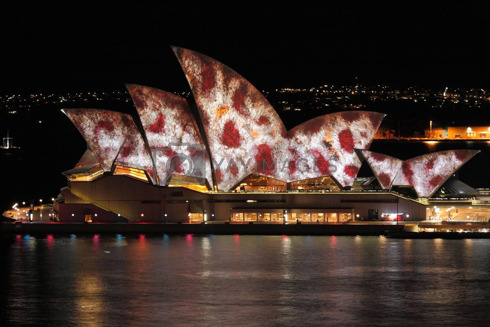 SYDNEY, NSW, AUSTRALIA - JUNE 2, 2014;  Sydney Opera House durin by lovleah