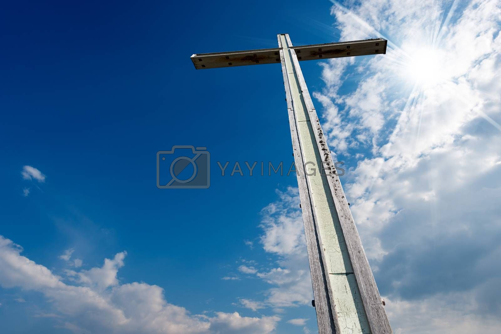 Cross Against a Blue Sky by catalby