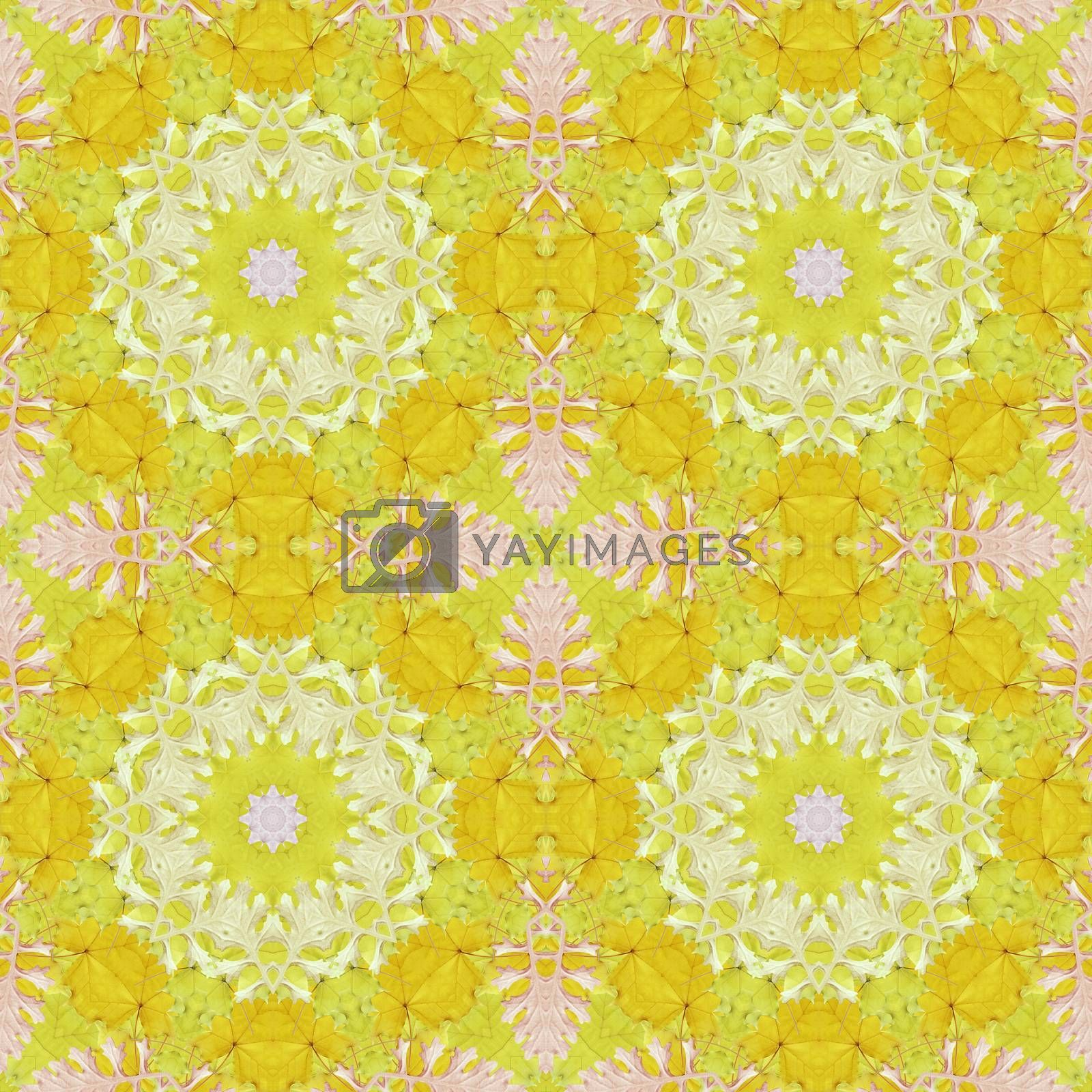 Seamless pattern with colorful leaves by alexcoolok