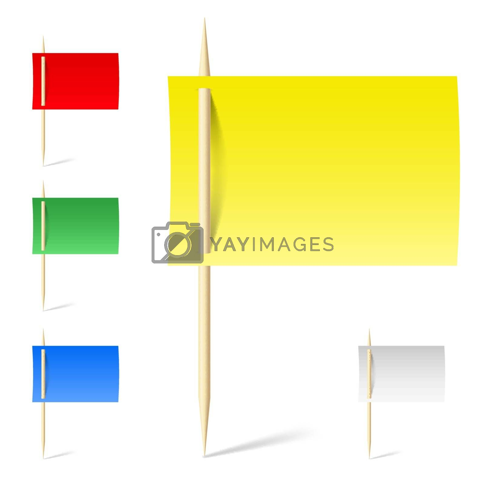 Set color papers on toothpicks by dvarg