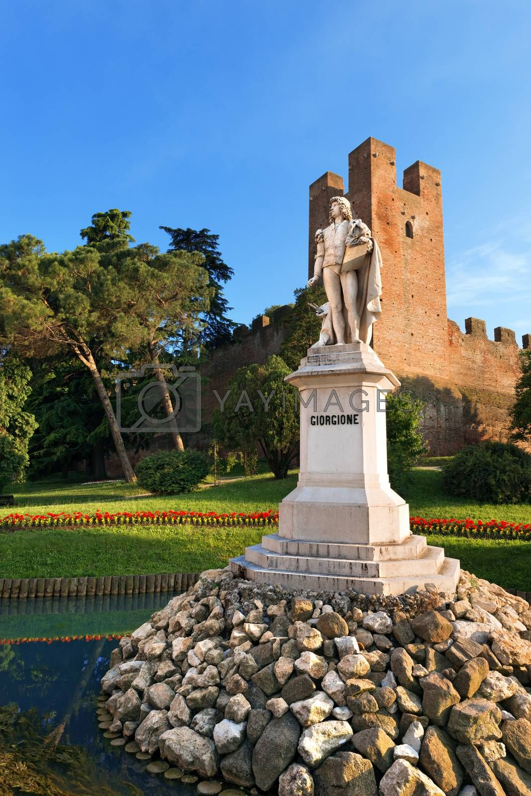 Monument of Giorgione Castelfranco Veneto - Italy by catalby