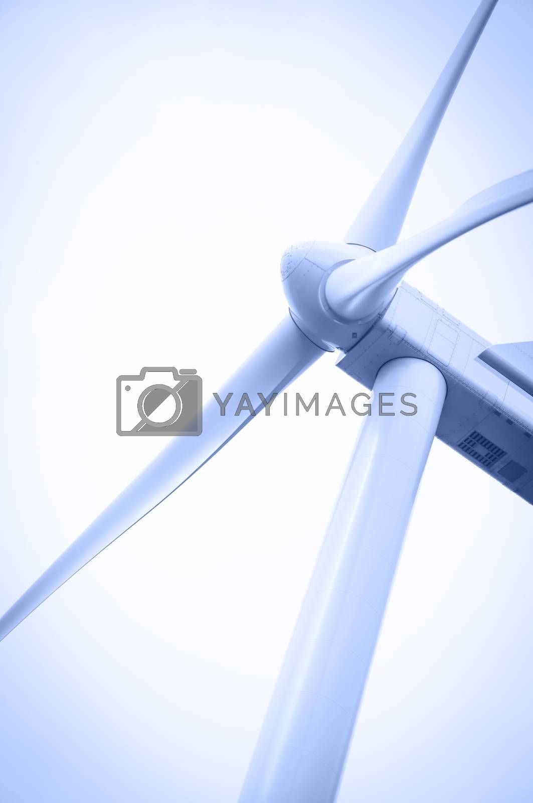 Electricity generating windmill. Toned. by bashta