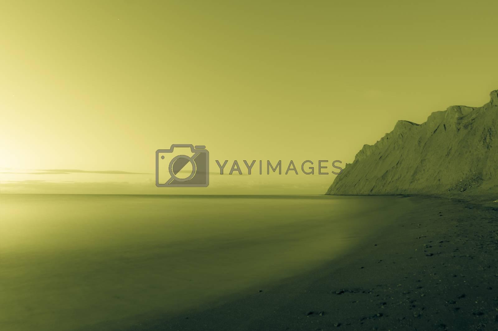 Morning sea. Toned. by bashta